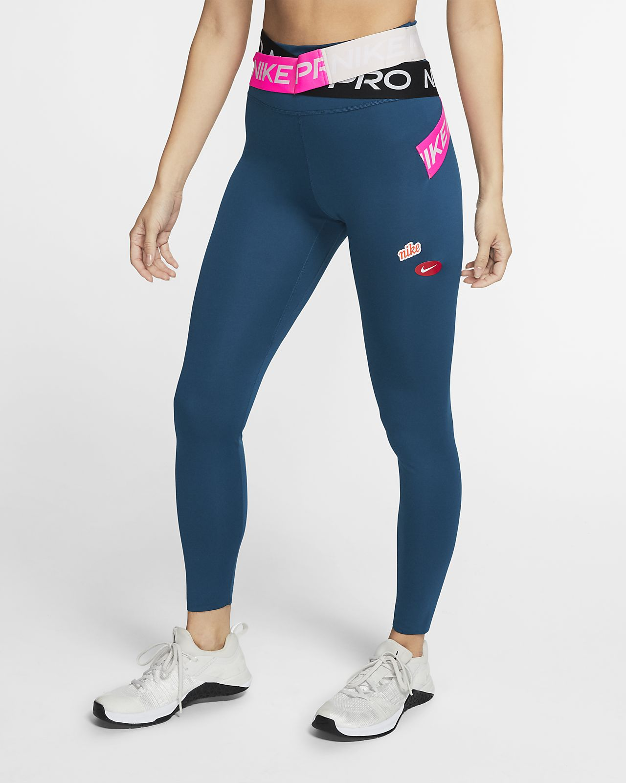 Nike One Luxe Icon Clash tights til dame