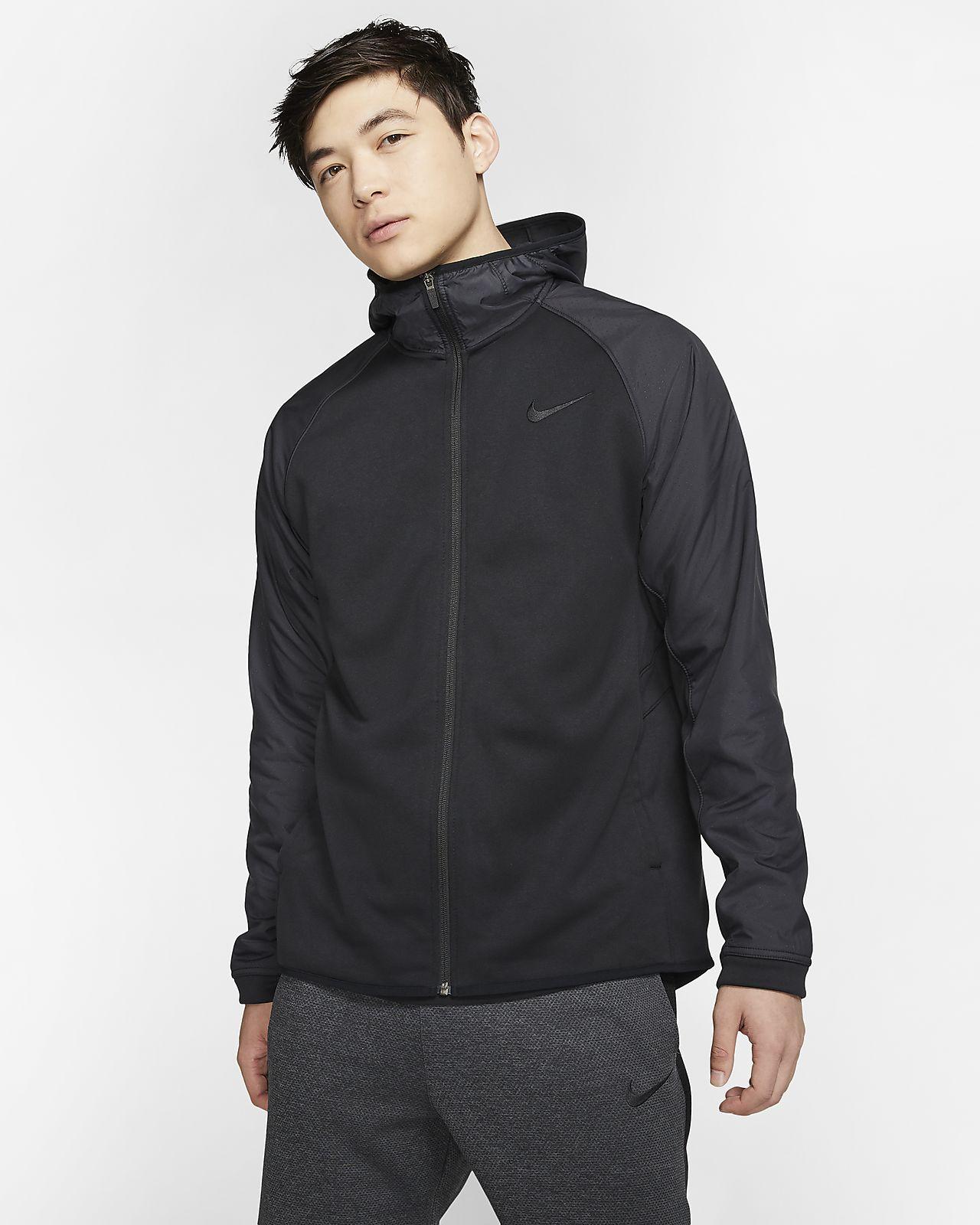 Sweat à capuche de basketball entièrement zippé Nike Therma pour Homme