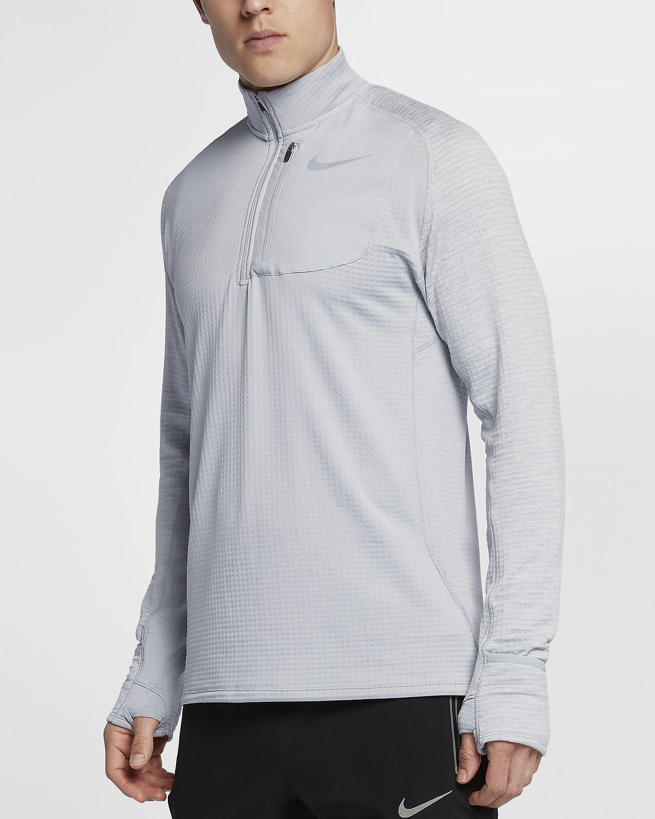 Nike Therma Sphere Langarm-Laufoberteil mit Halbreißverschluss für Herren