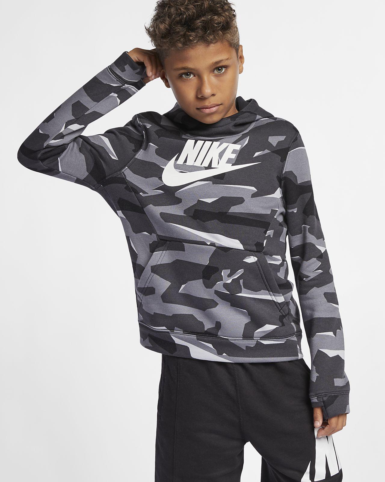 Sweat à capuche camouflage Nike Sportswear pour Garçon plus âgé