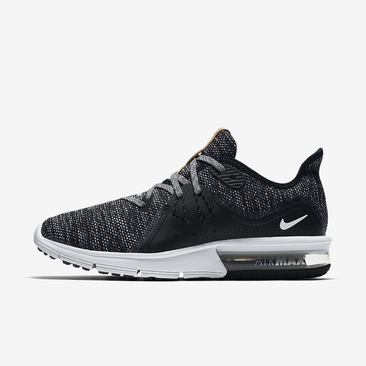 Air MAX Sequent 3, Zapatillas de Running para Hombre, Negro (Black/White-Dark Grey 011), 44.5 EU Nike
