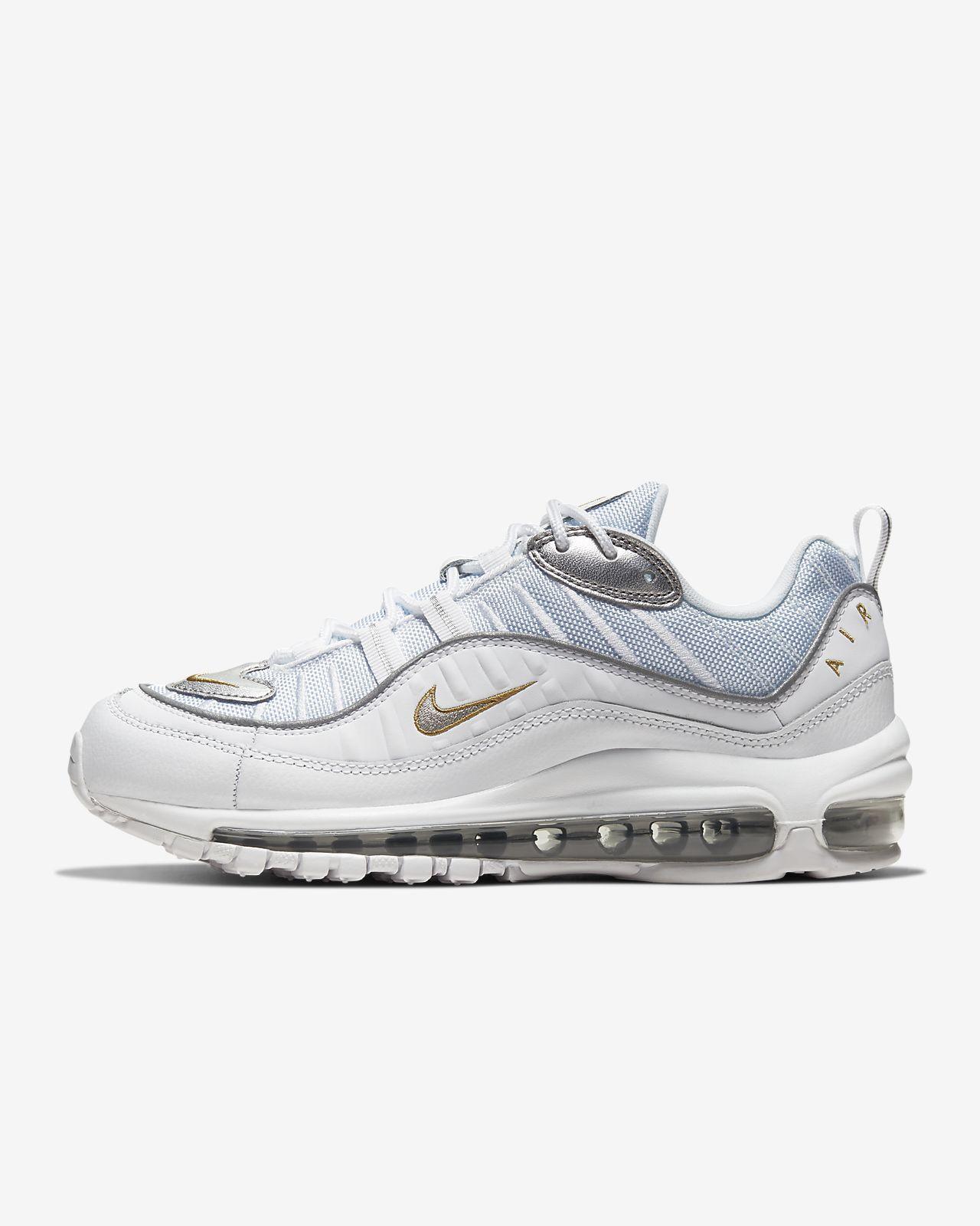 Nike Air Max 98 Scarpe da Ginnastica, Uomo, Bianco (White