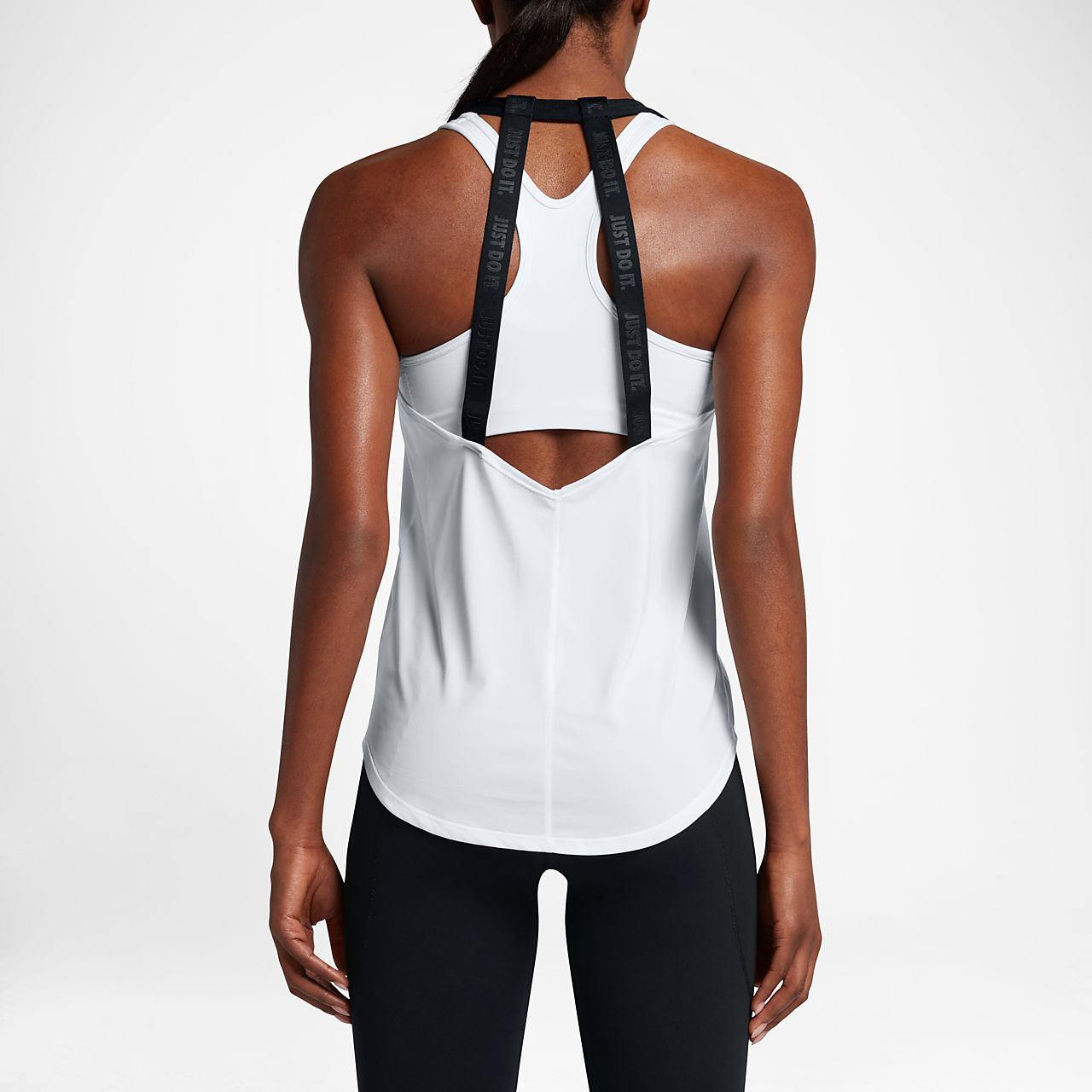 Nike Dry Women's Training Tank Tops Black/White