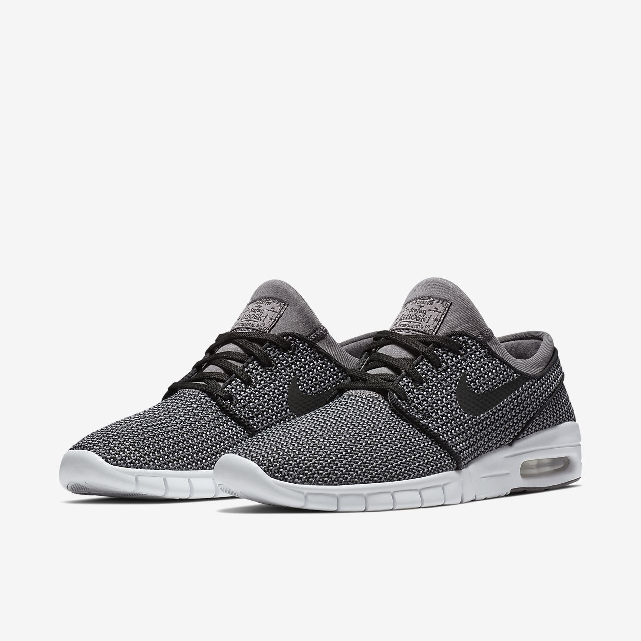 Nike Stefan Janoski Max, Chaussures de Skateboard Homme, Noir (Black-Anthracite-Black), 38.5 EU