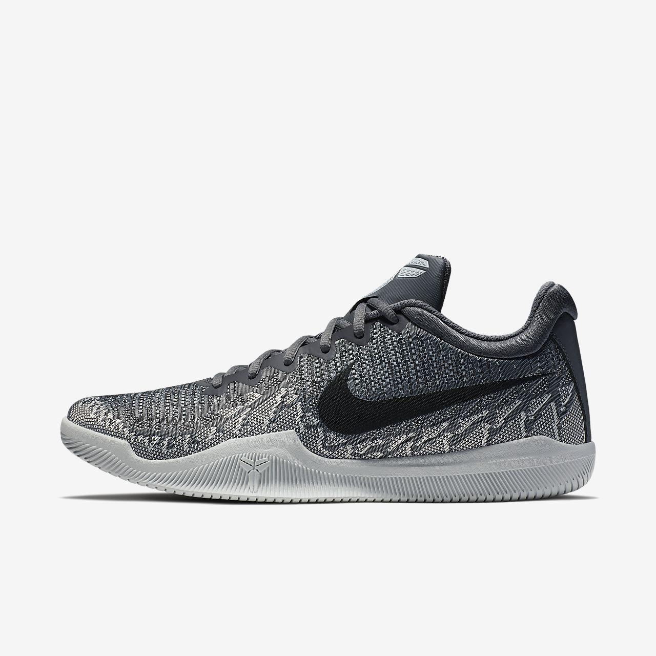 Nike Performance MAMBA RAGE - Basketball shoes - white/black/pure platinum/wolf grey HxzzBE