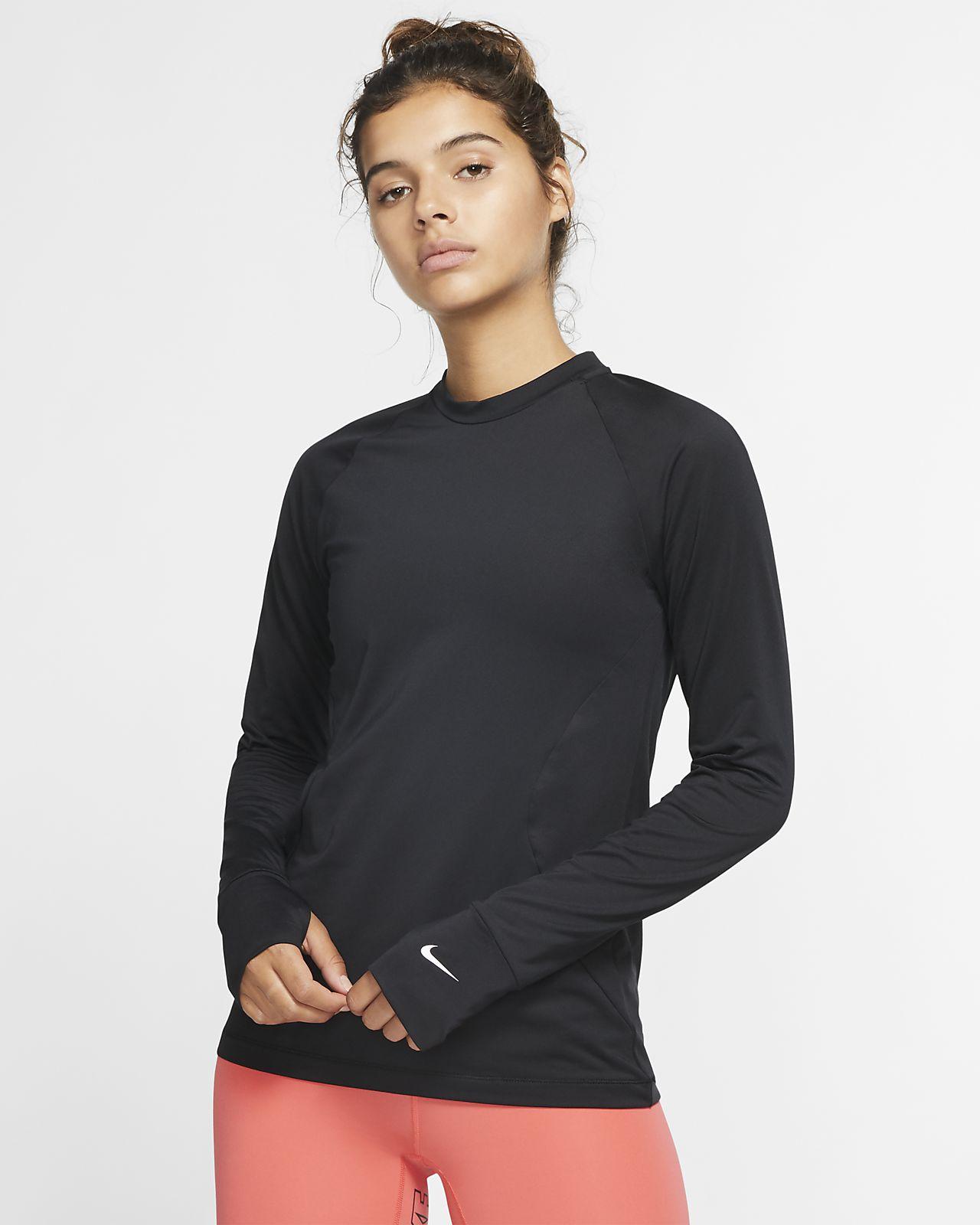 Nike Pro Warm Langarm-Rundhalsshirt für Damen