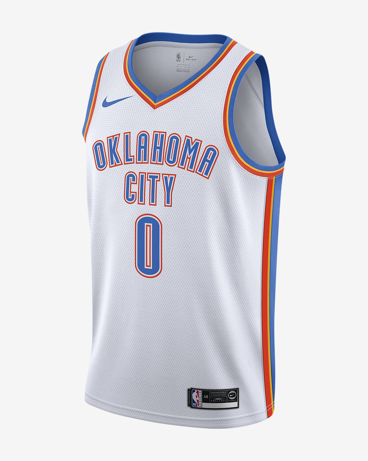 Russell Westbrook Thunder Association Edition Nike NBA Swingman Jersey