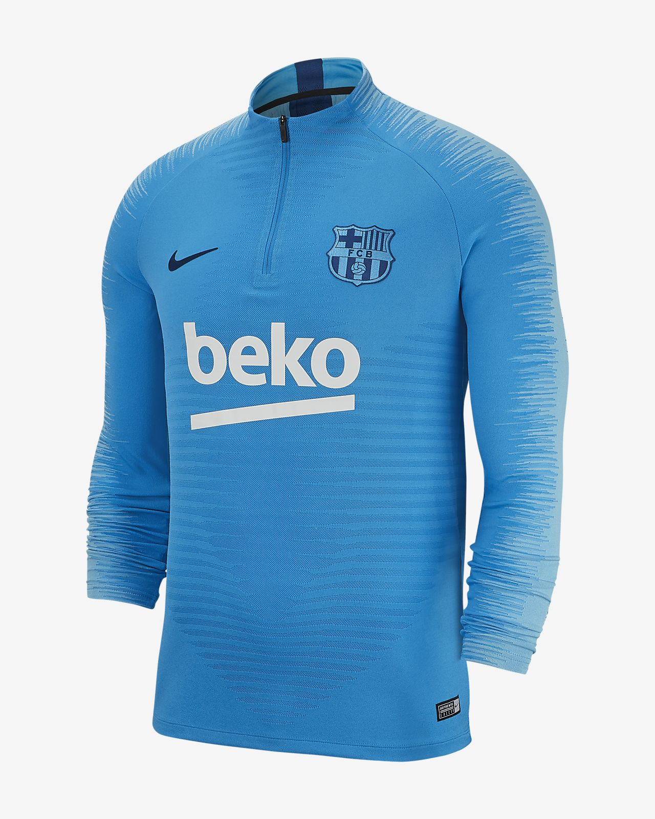 e9b94680109 FC Barcelona VaporKnit Strike Drill Men s Long-Sleeve Football Top ...