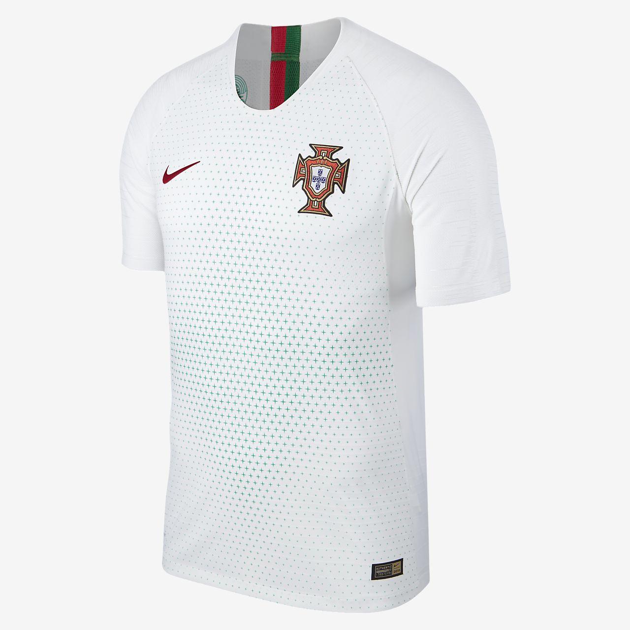 Camiseta de fútbol para hombre 2018 Portugal Vapor Match Away