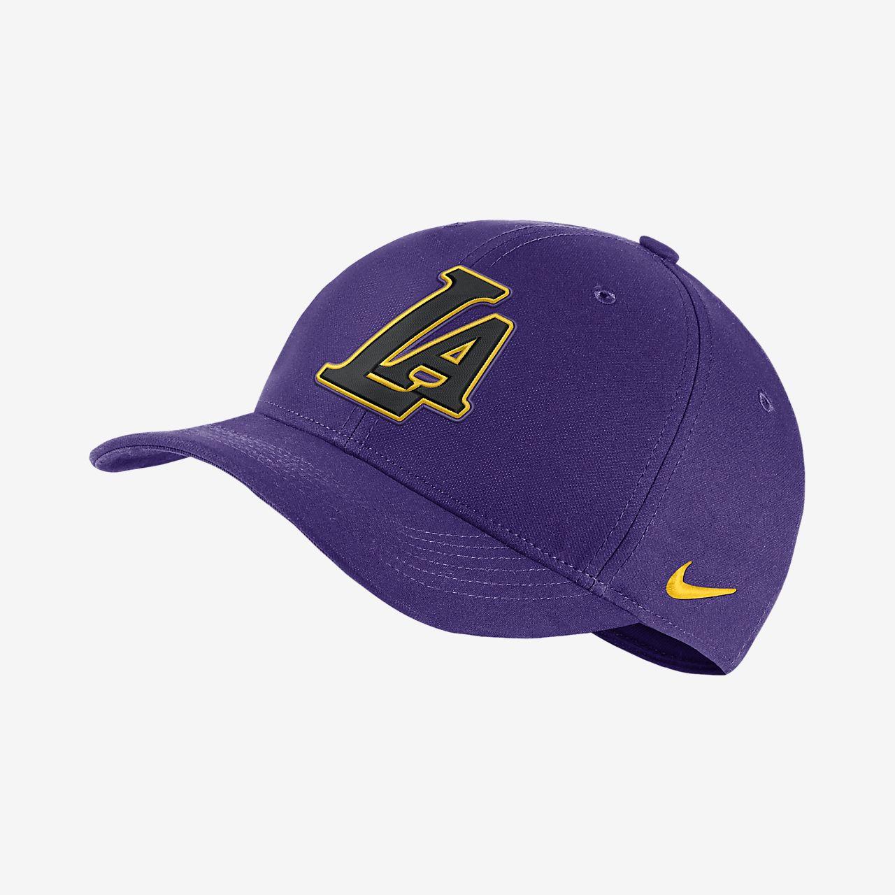 395c680b0 Los Angeles Lakers City Edition Nike AeroBill Classic99 NBA Hat ...