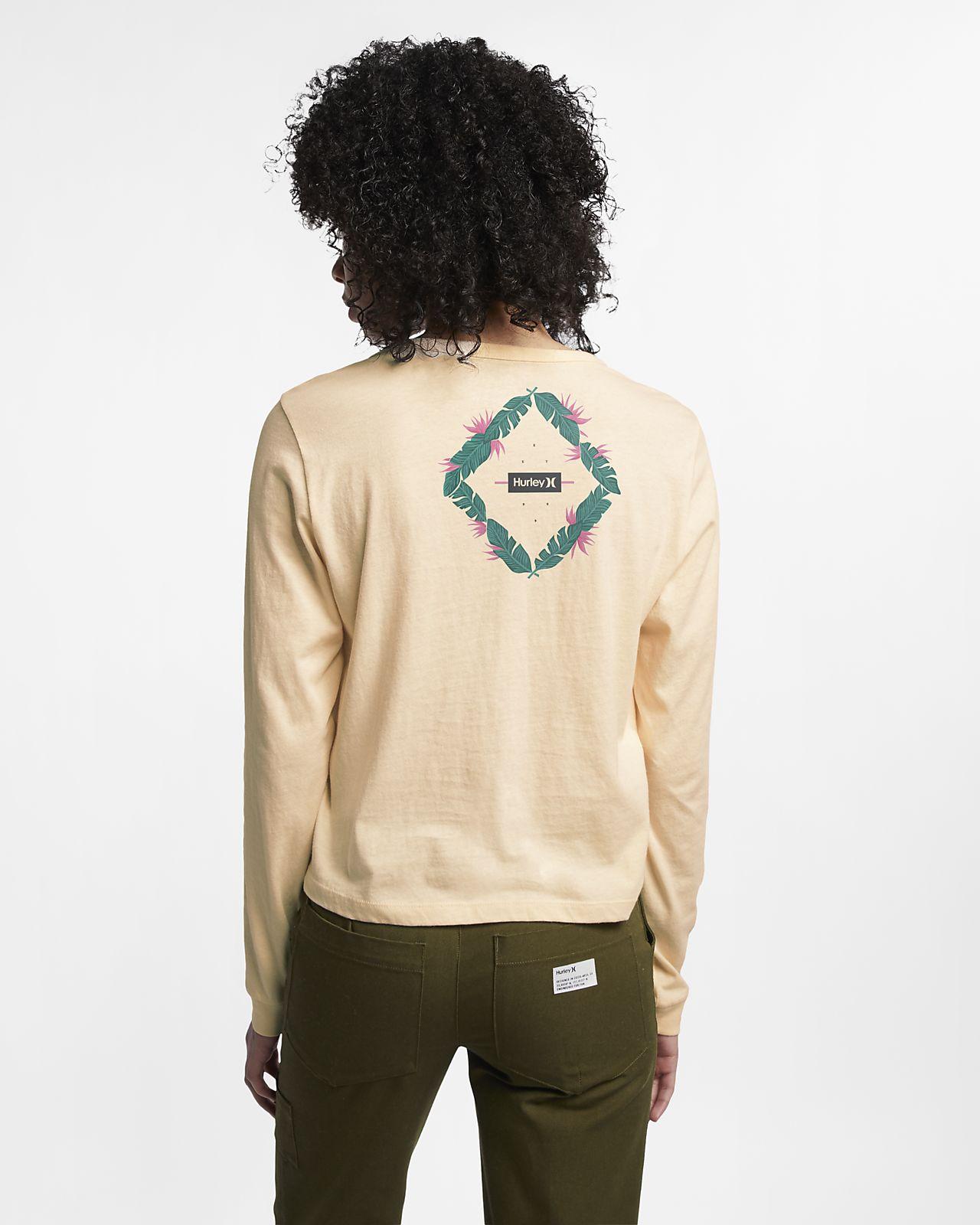 Женская футболка с длинным рукавом Hurley Diamond Blossom Perfect