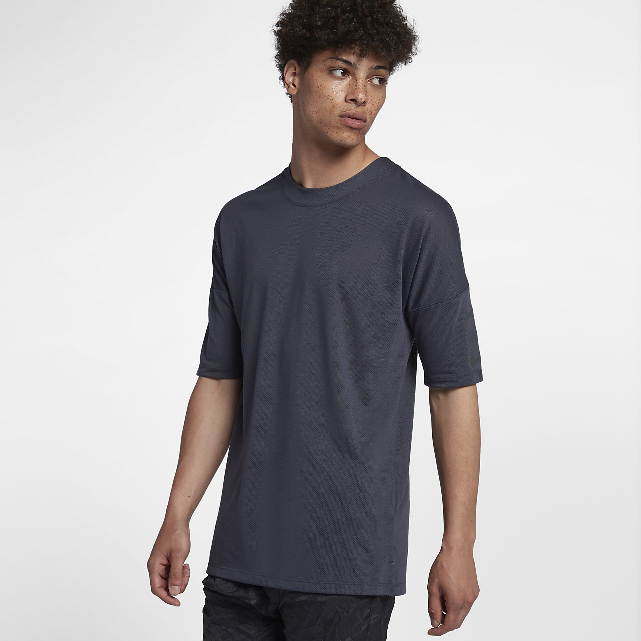 Nike Rise 365 男子五分袖跑步上衣