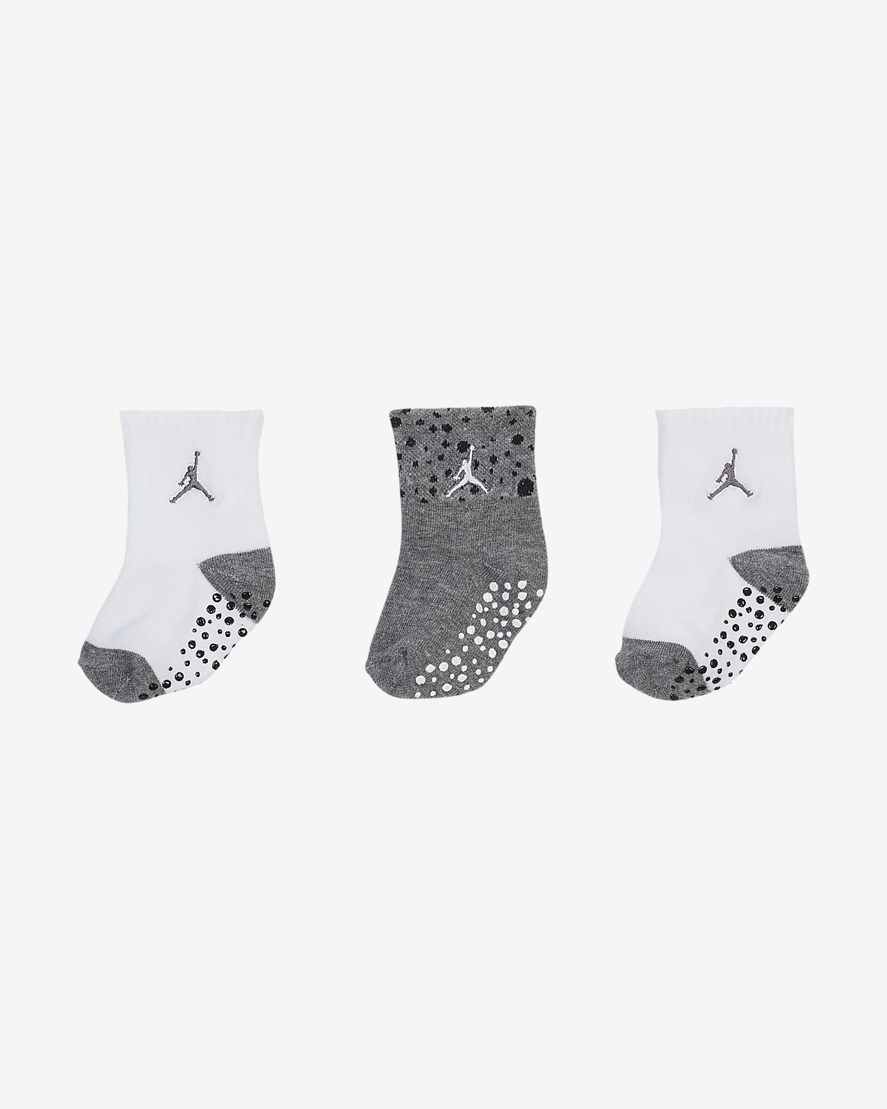 Jordan Toddler Gripper Ankle Socks (3 Pairs)