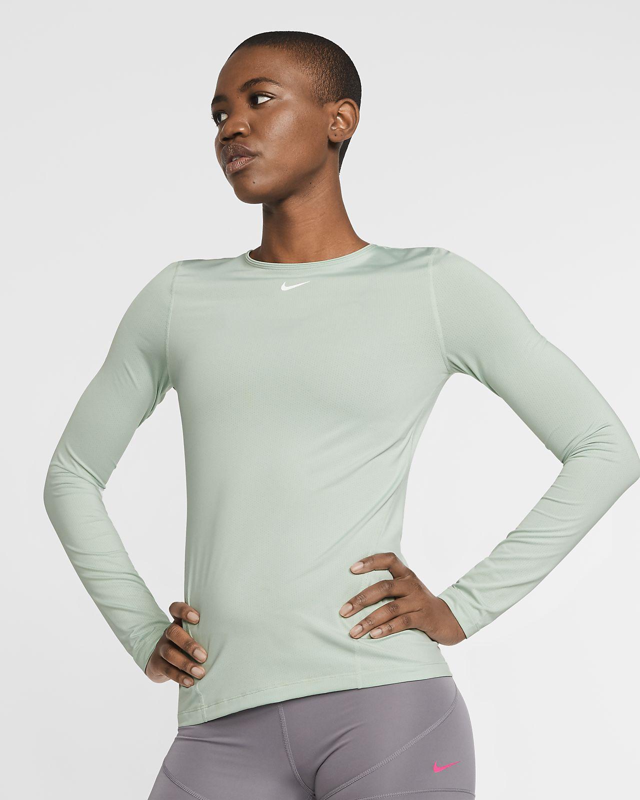Γυναικεία μακρυμάνικη μπλούζα από διχτυωτό υλικό Nike Pro