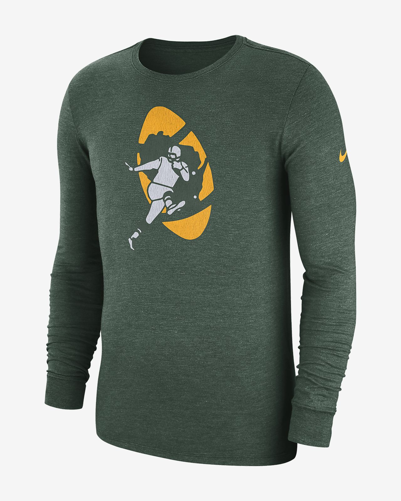 Nike (NFL Packers) Men's Tri-Blend Long-Sleeve T-Shirt