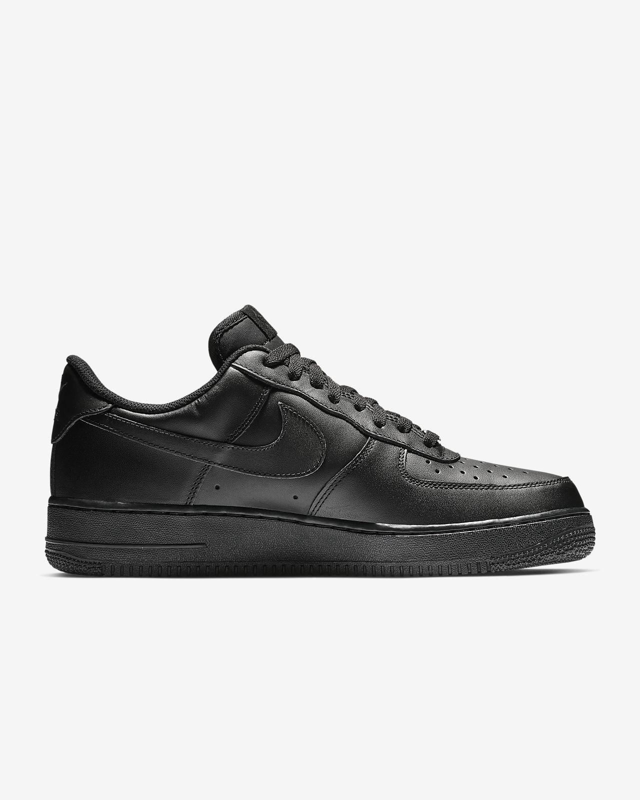 Nike Air Force 1 Men's leather and synthetic Sneakers Black/Black 315122-001 11'