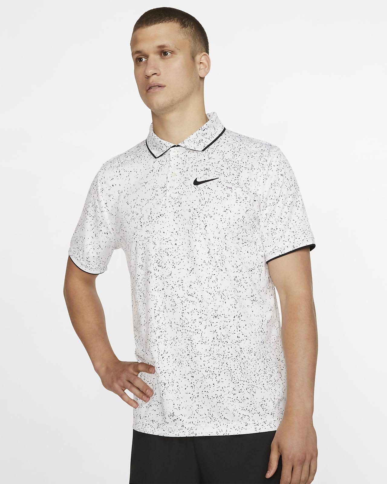 Mönstrad tennispikétröja NikeCourt Dri-FIT för män