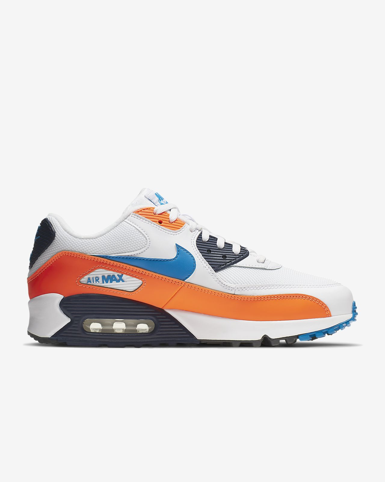 Nike Air Max 90 Essential grise et orange Chaussures