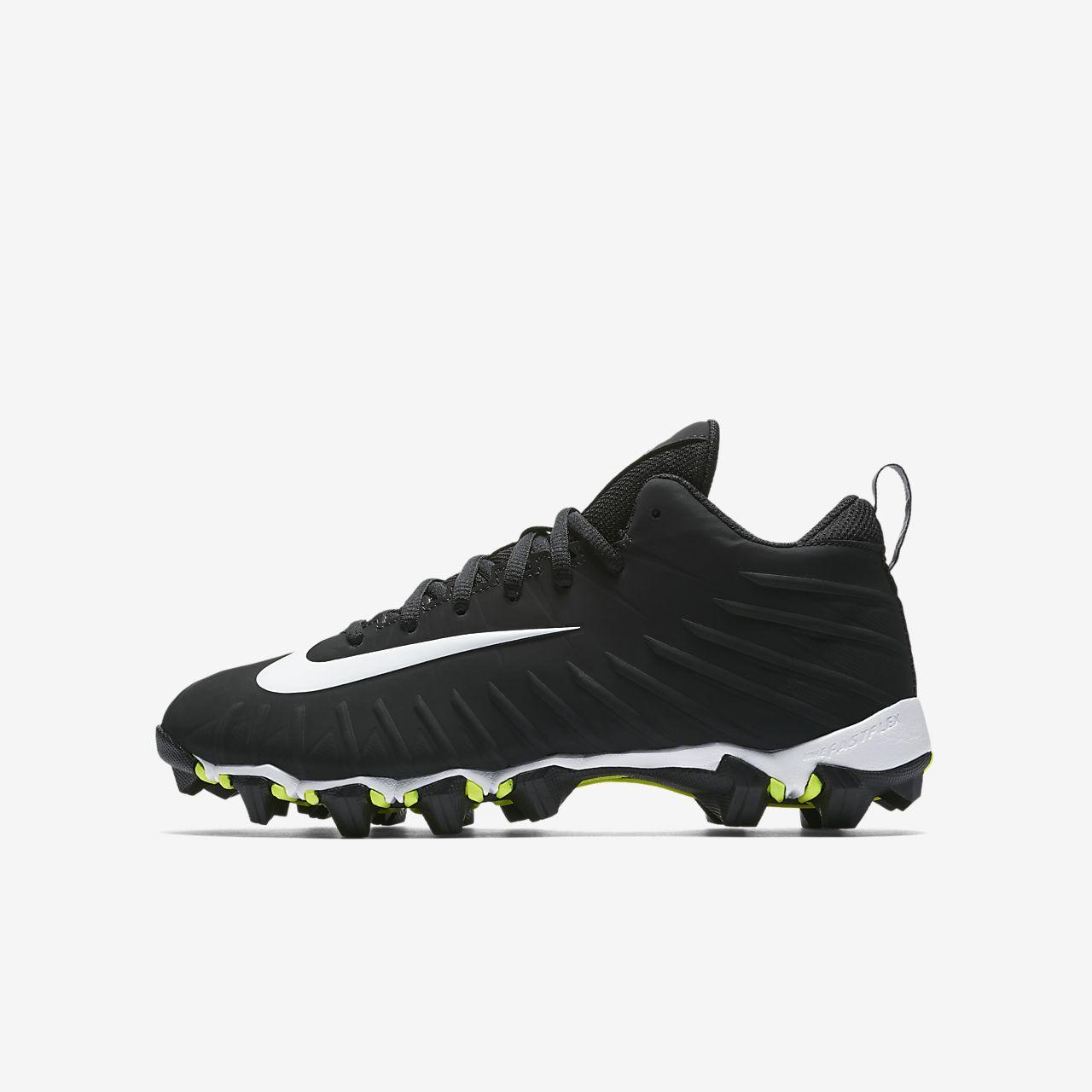 ... Nike Alpha Menace Shark (Wide) Little/Big Kids' Football Cleat