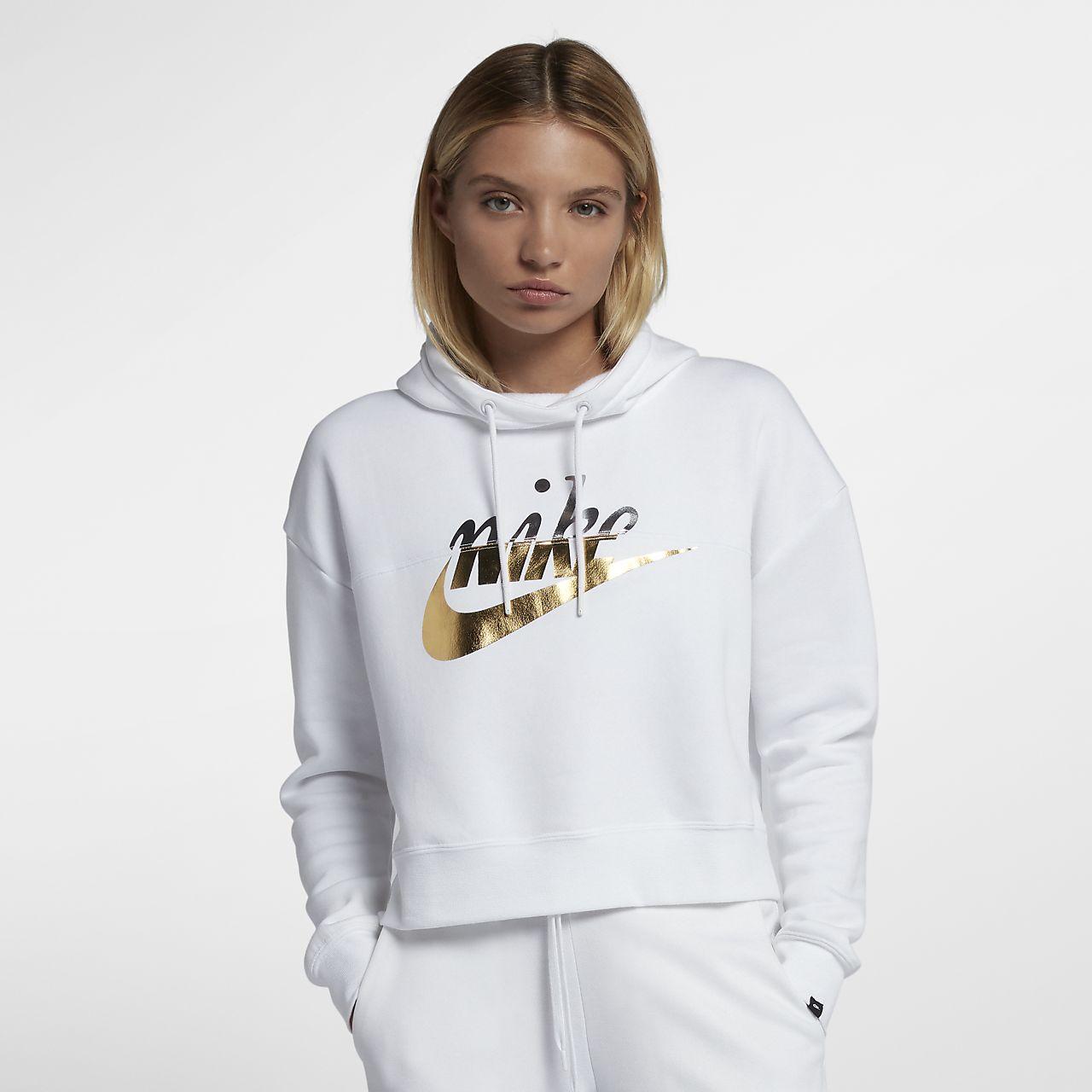 4f98247faa8 Nike Sportswear Rally Women s Metallic Pullover Hoodie. Nike.com AU