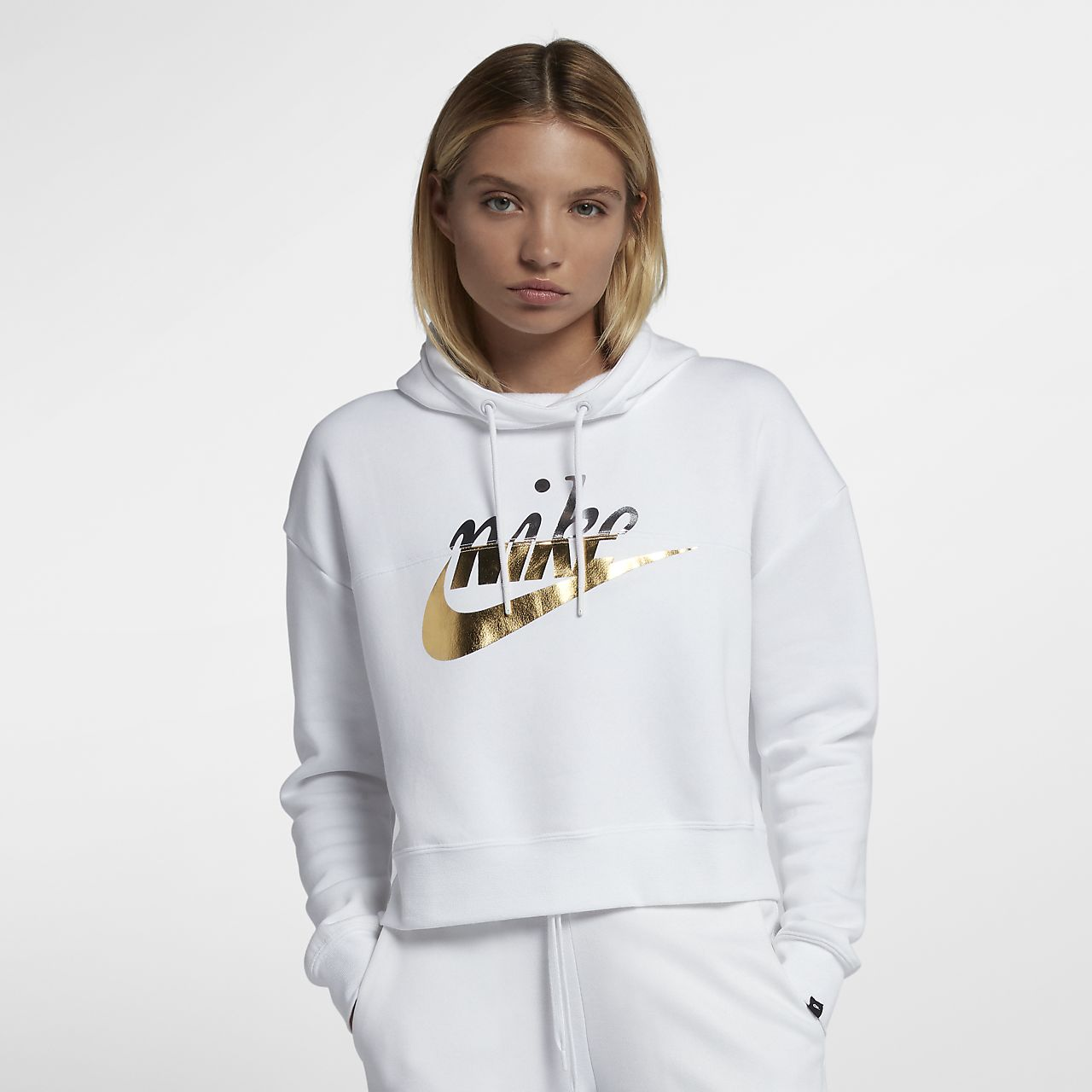 buy online 23222 fc024 ... Sweat à capuche métallisé Nike Sportswear Rally pour Femme