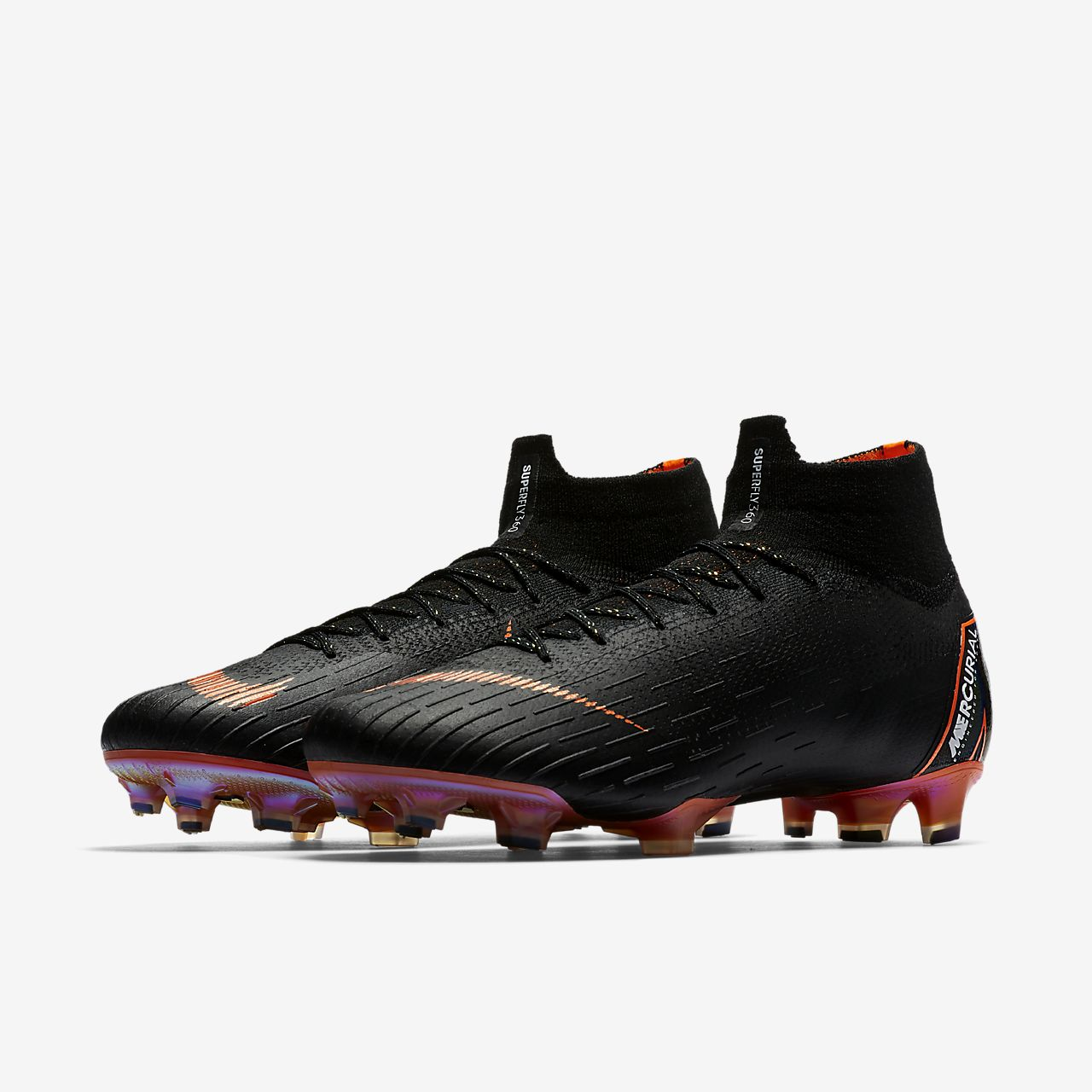 Nike Mercurial Vapor XII Academy MG, Chaussures de Football Homme, Noir (Black/Total Orange-W 081), 38.5 EU