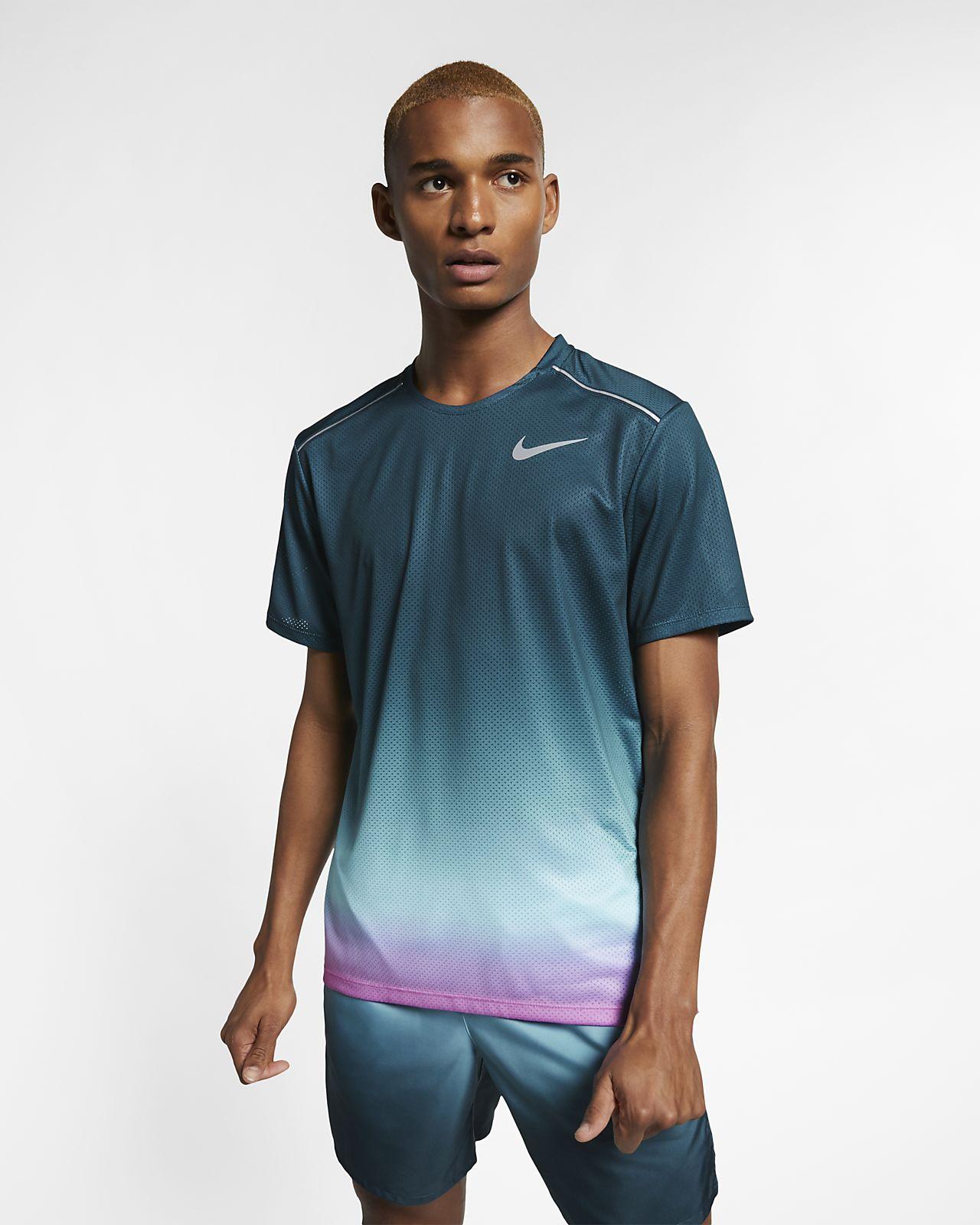 Nike Dri-FIT Miler Camiseta de running de manga corta con estampado - Hombre