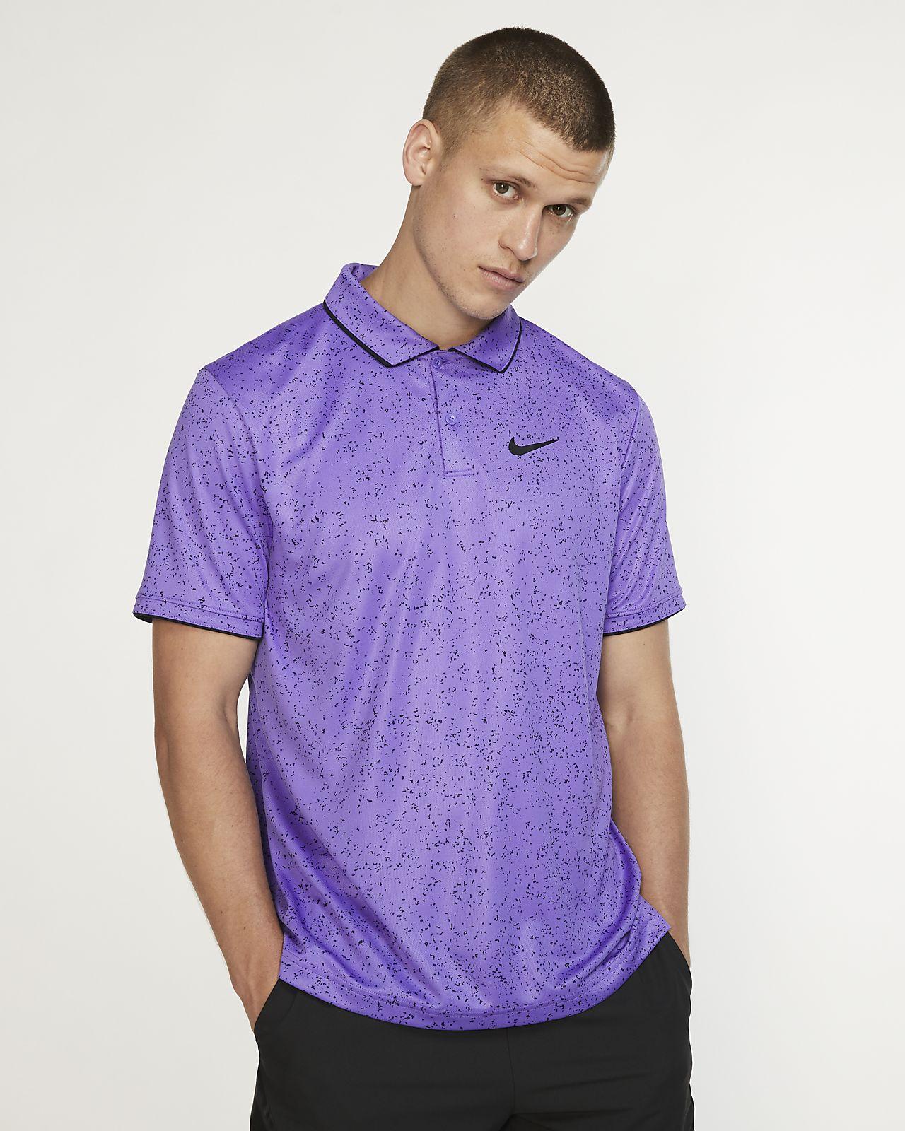 Мужская теннисная рубашка-поло с принтом NikeCourt Dri-FIT