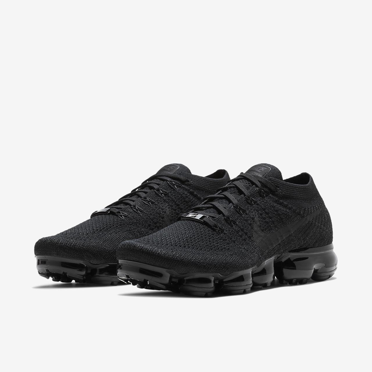 Running Nike AIr VaporMax Flyknit SE WomensMens Black