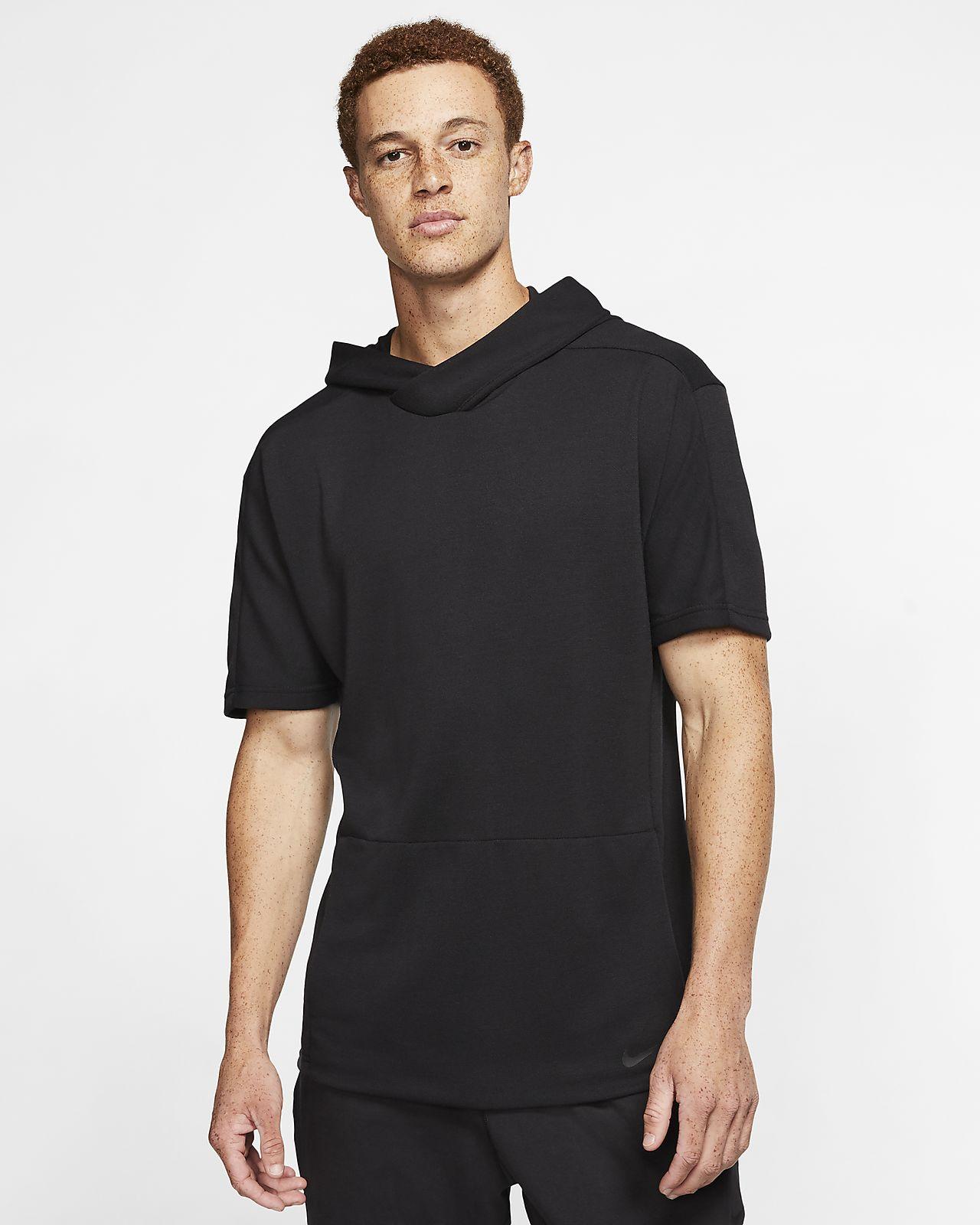 Nike Yoga Dri FIT Men's Short Sleeve Pullover Hoodie