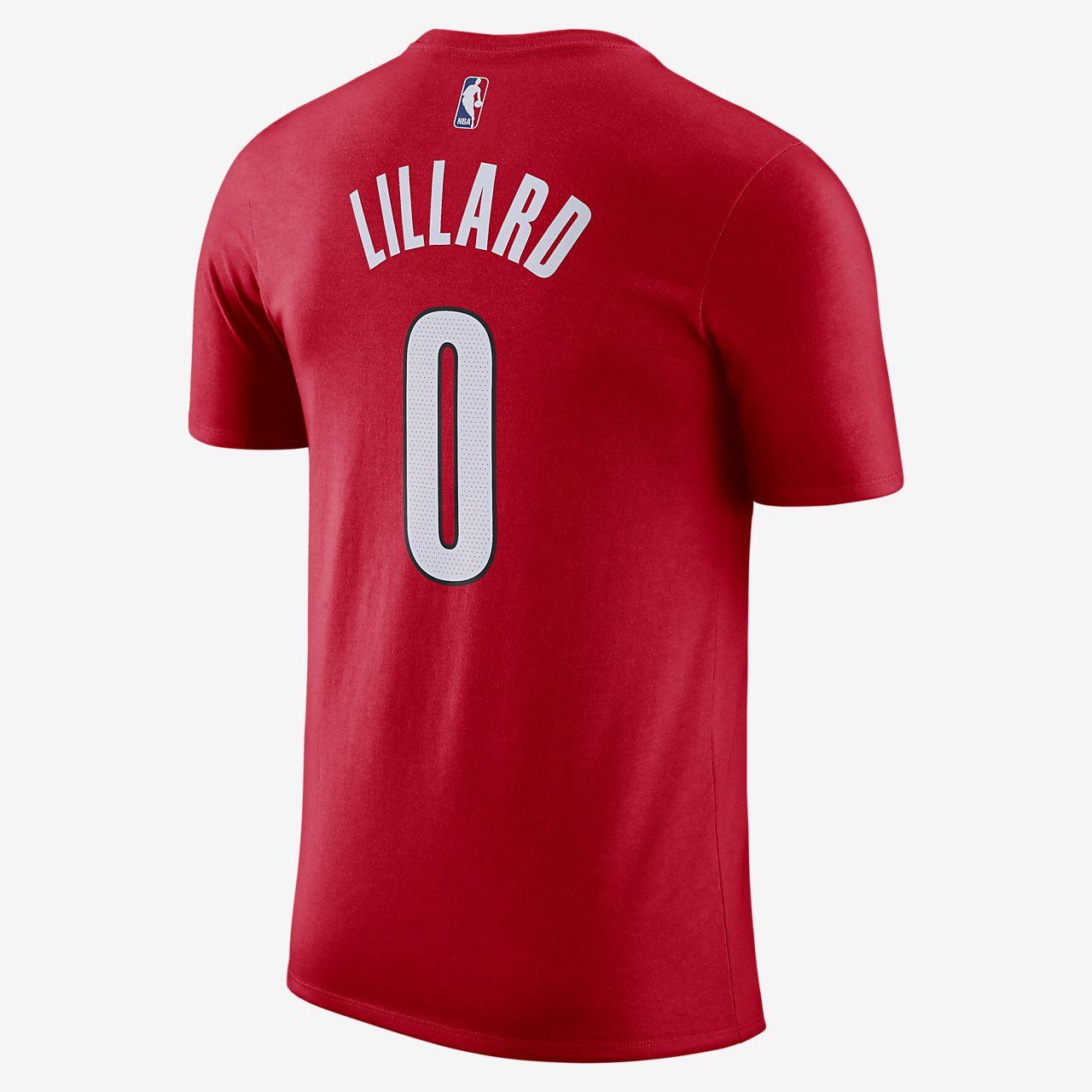 ... Damian Lillard Portland Trail Blazers City Edition Nike Dri-FIT Men s  NBA T-Shirt 3b32bcb39