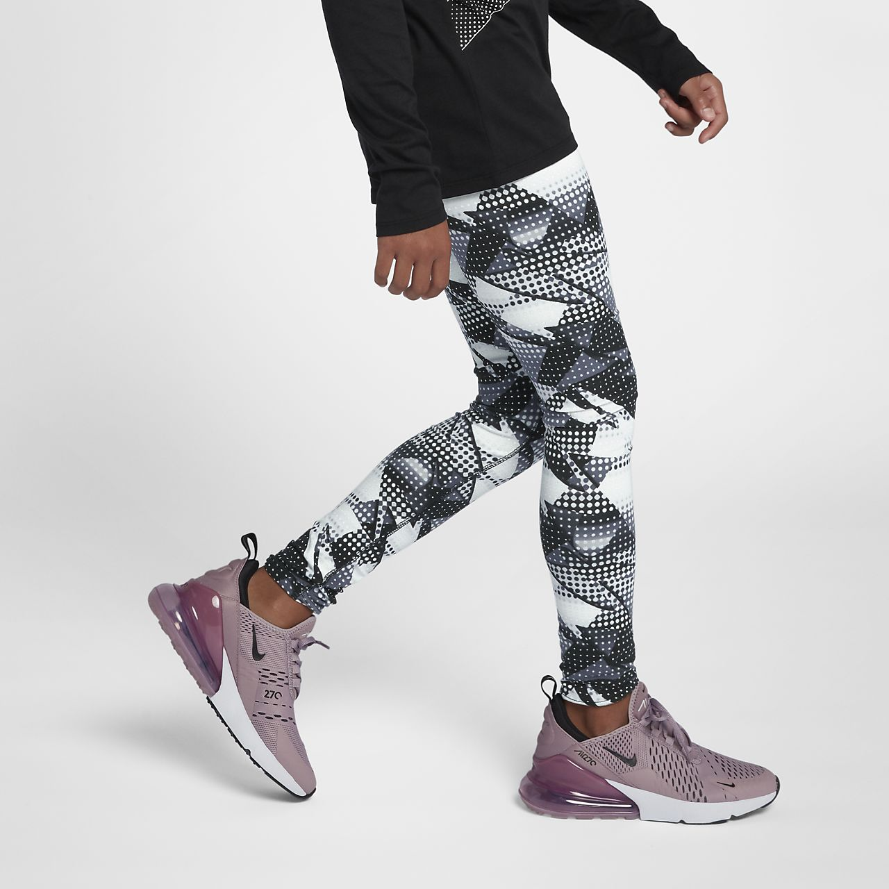476f6b8b9f407a Nike Sportswear Older Kids' (Girls') Printed Leggings. Nike.com NZ