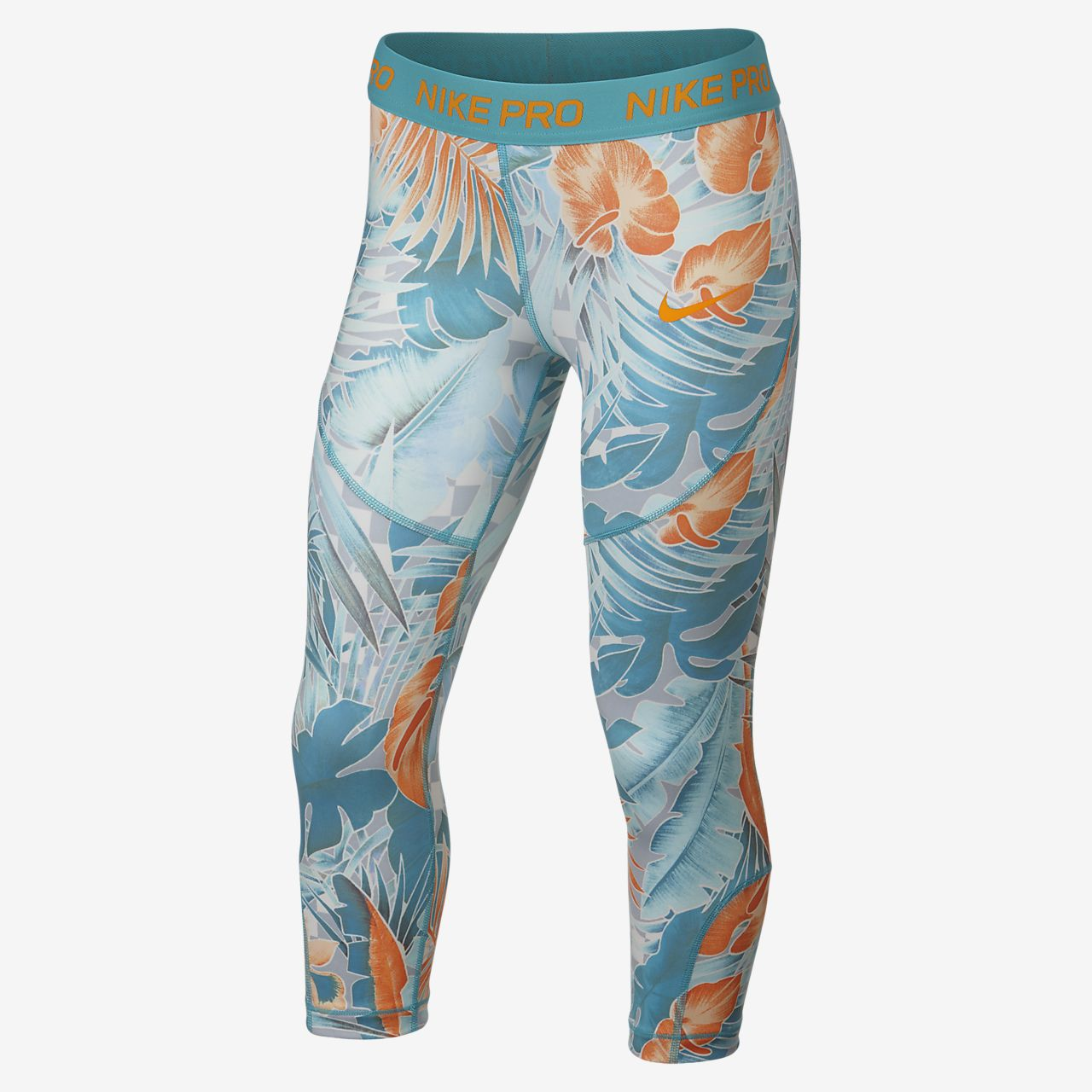 Nike Pro Big Kids' (Girls') Printed Capris