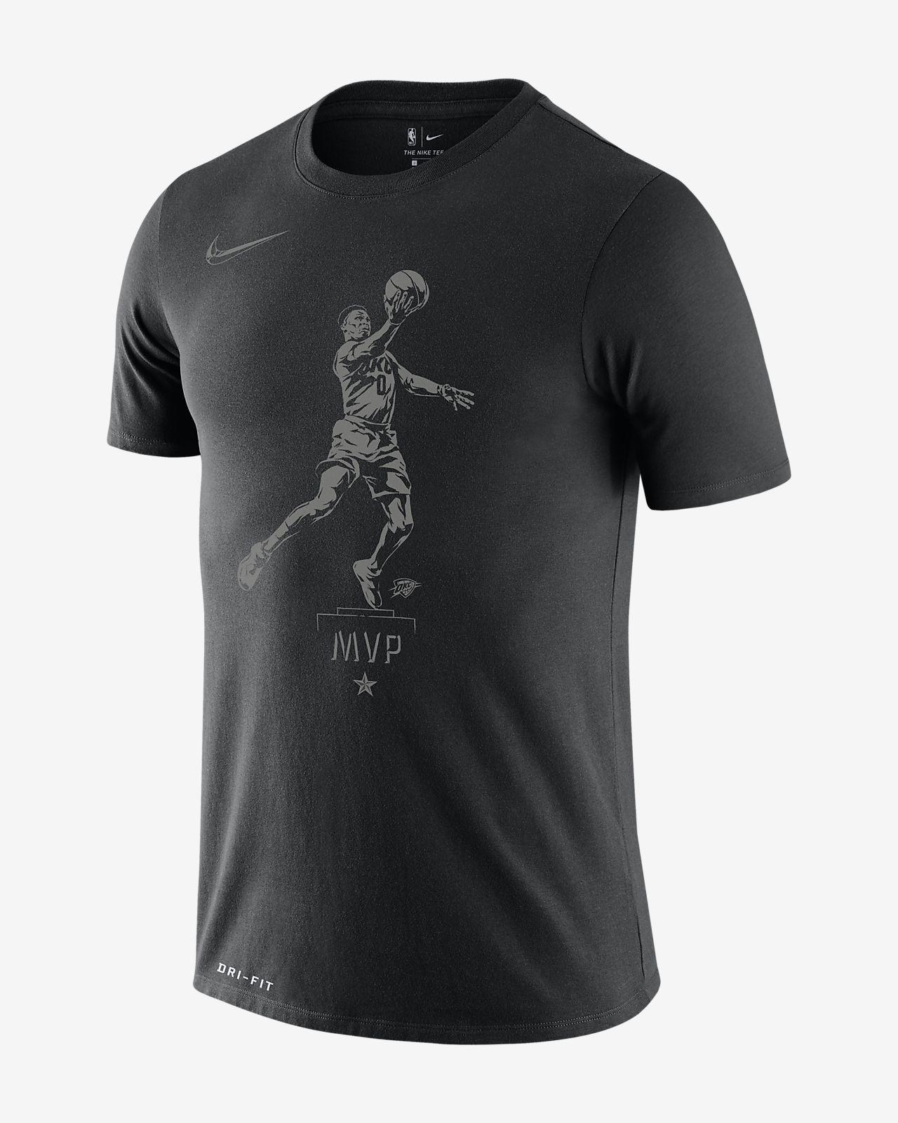 """เสื้อยืด NBA ผู้ชาย Russell Westbrook Nike Dri-FIT """"MVP"""""""