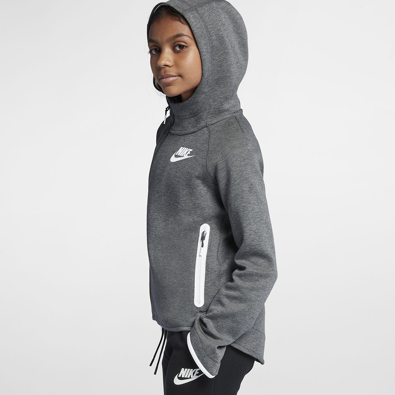 e89486a40a5 Nike Sportswear Tech Fleece Big Kids  (Girls ) Full-Zip Hoodie. Nike.com