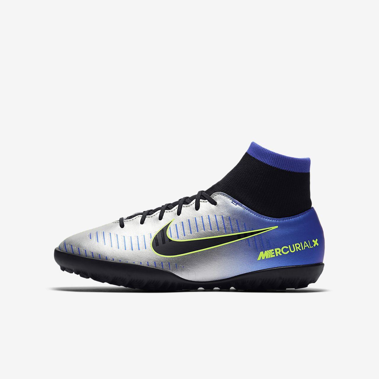 Nike Jr. MercurialX Victory VI Dynamic Fit Neymar TF (921492-407) Girls Football Boots Black/Blue