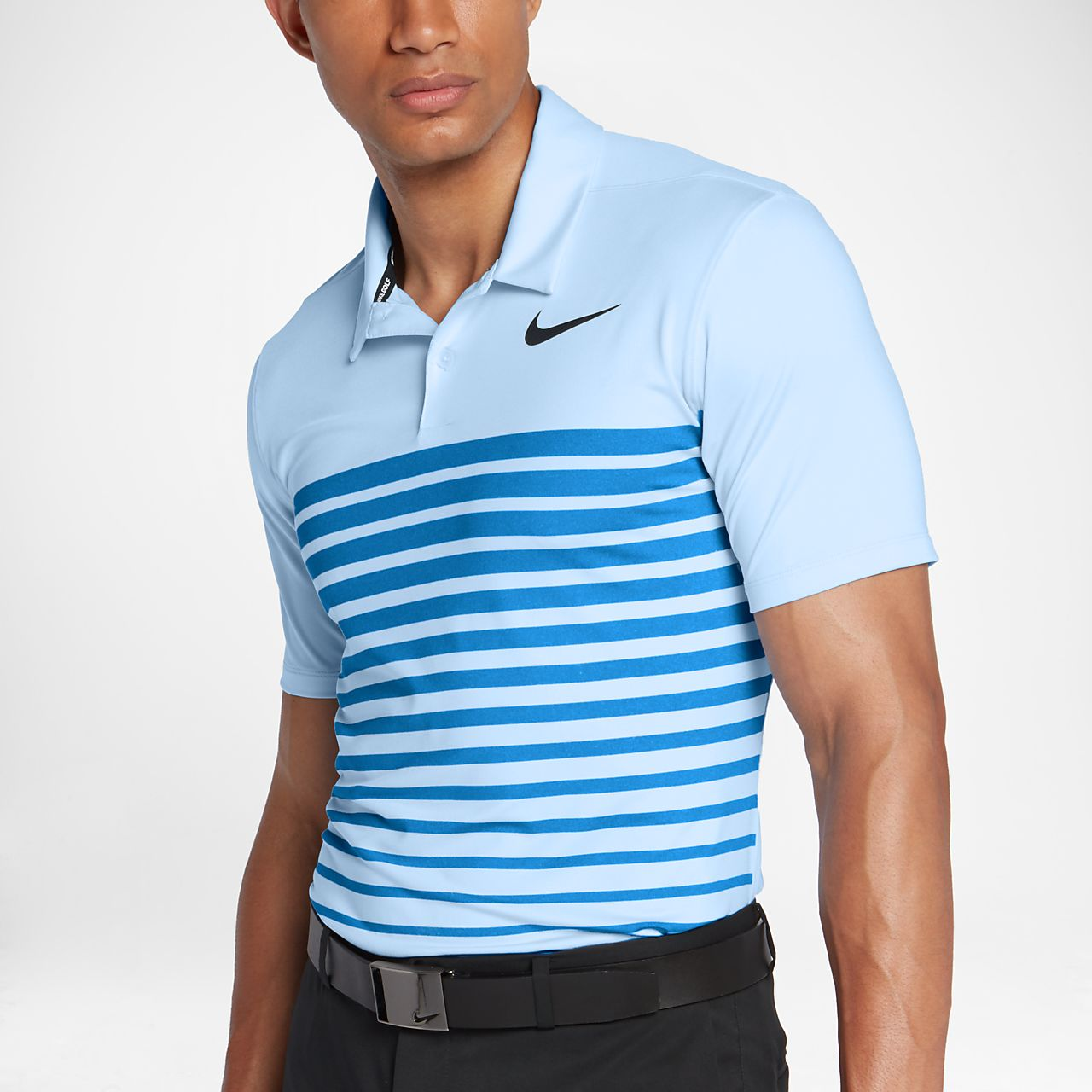... Nike Dry Heather Stripe Men's Standard Fit Golf Polo