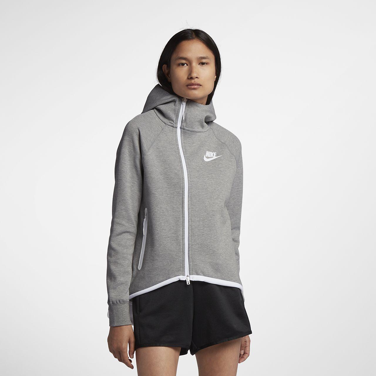 Cappa con zip a tutta lunghezza Nike Sportswear Tech Fleece - Donna
