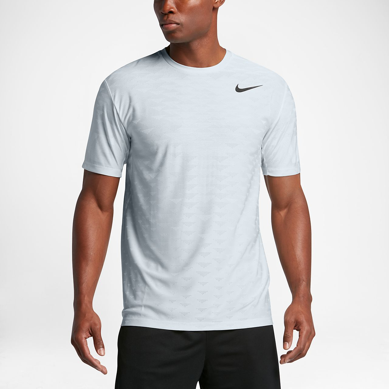 Nike Zonal Cooling Men's Short Sleeve Training Top Pure Platinum/White/Black