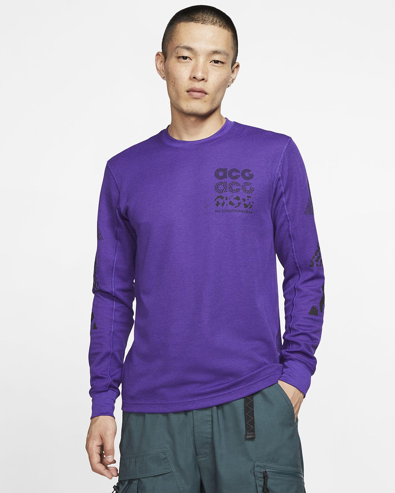 Waflowa koszulka z długim rękawem Nike ACG