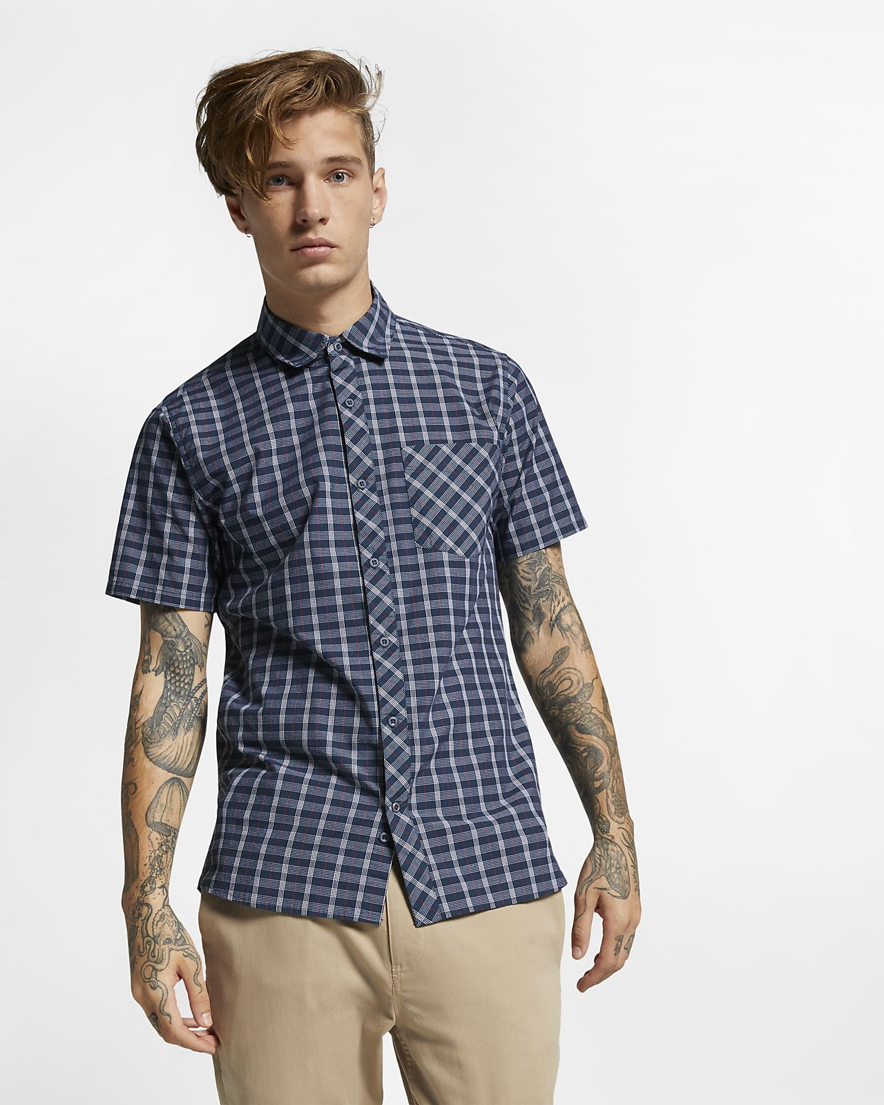 Hurley Williams Men's Short-Sleeve Shirt
