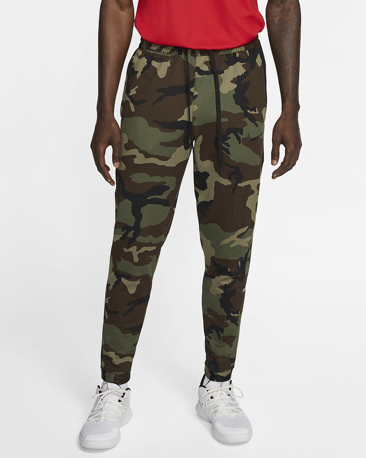 Męskie spodnie do koszykówki z nadrukiem Nike Therma Flex Showtime