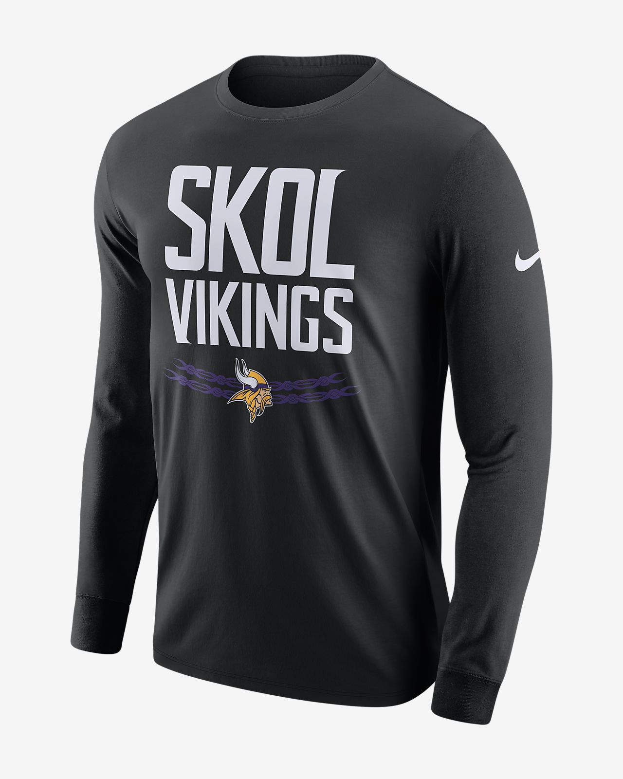 110971b4e510 Nike Dri-FIT (NFL Vikings) Men s Long-Sleeve T-Shirt. Nike.com
