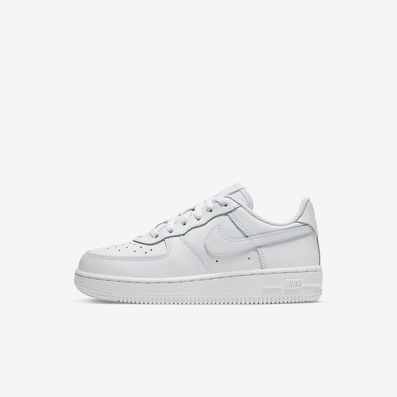 Nike Force 1 Triple White Younger Kids' Shoe