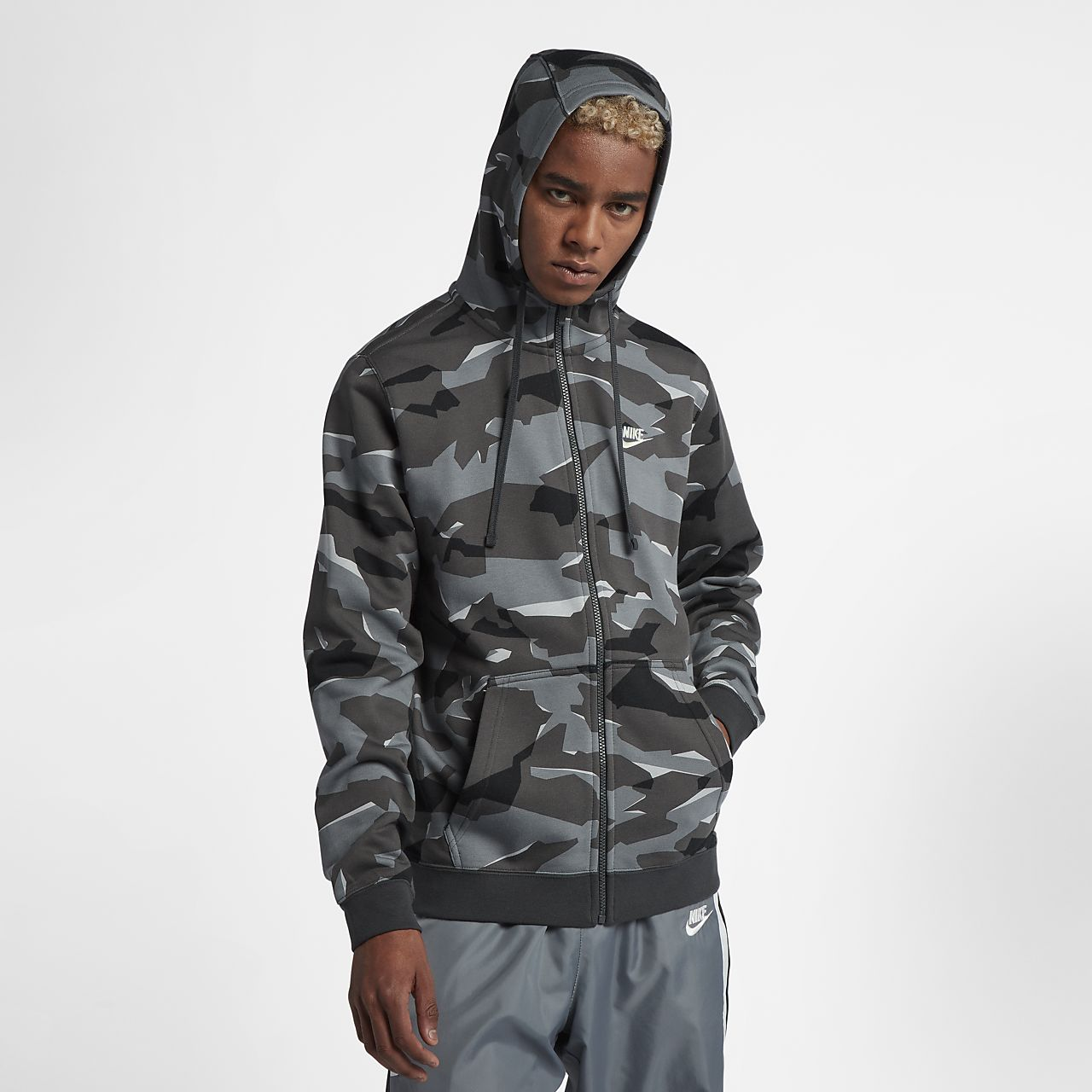 Sportswear Nike Entièrement À Camouflage Sweat Club Zippé Capuche 4qXYwvvR