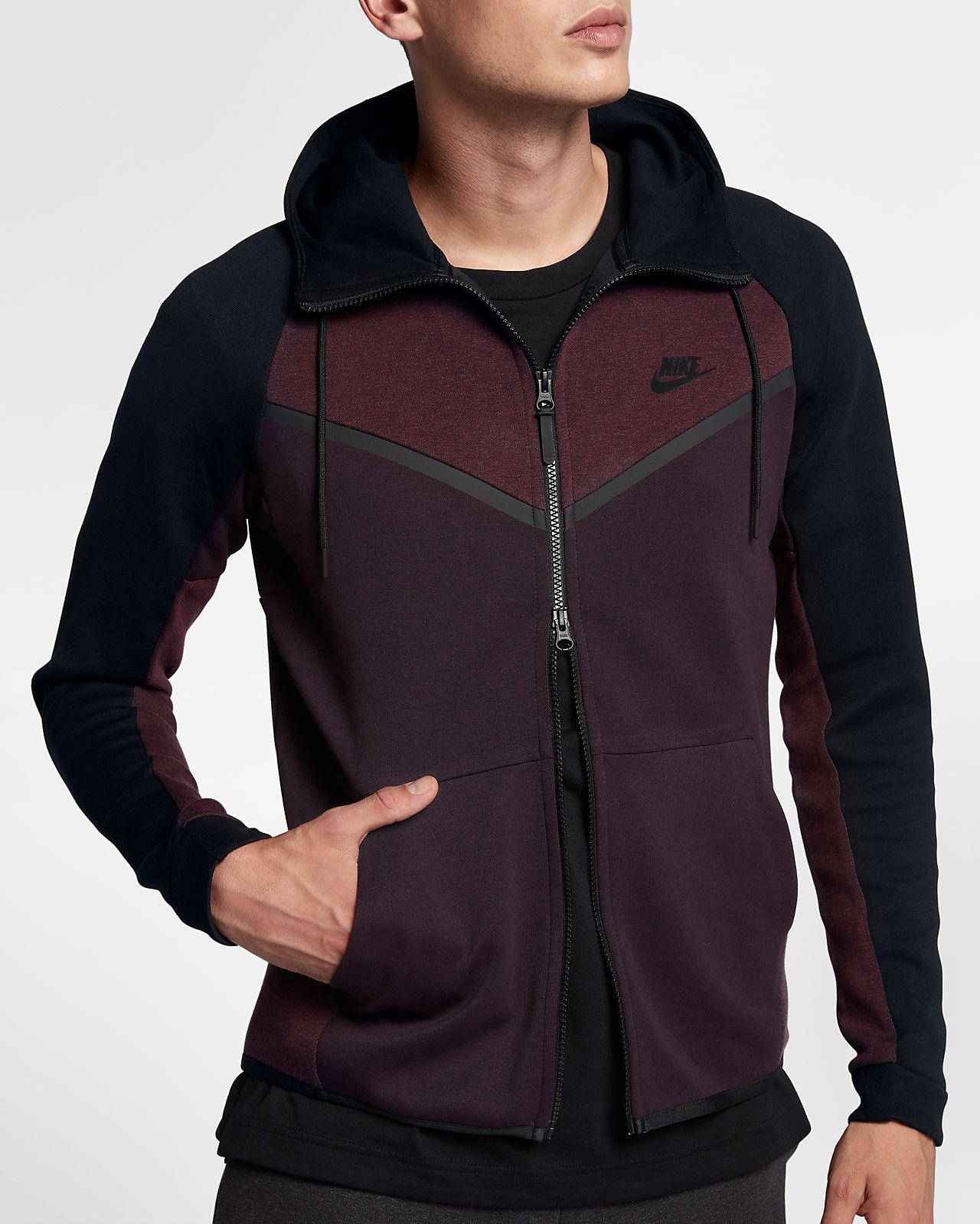 nike sportswear tech fleece windrunner men 39 s full zip hoodie il. Black Bedroom Furniture Sets. Home Design Ideas