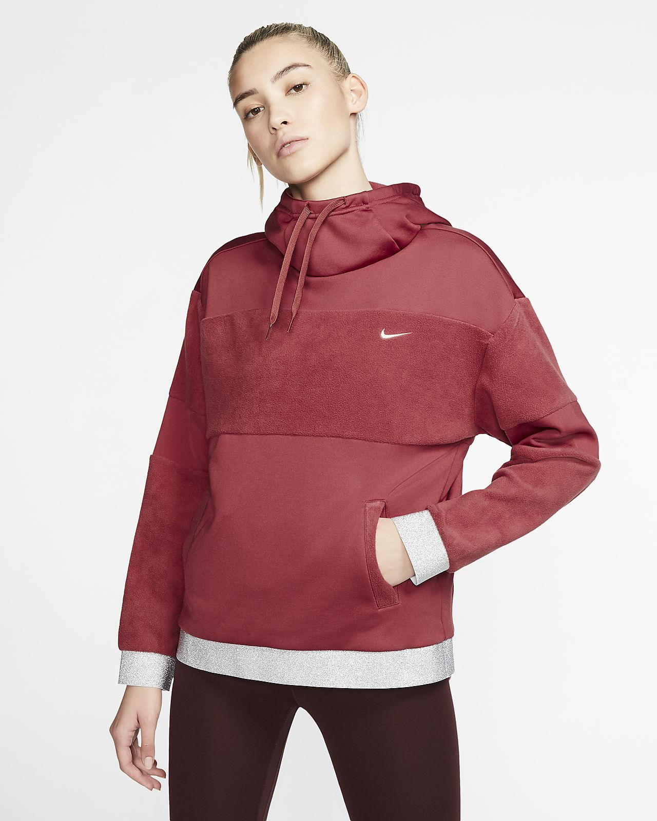 Damska dzianinowa bluza treningowa z kapturem Nike Icon Clash