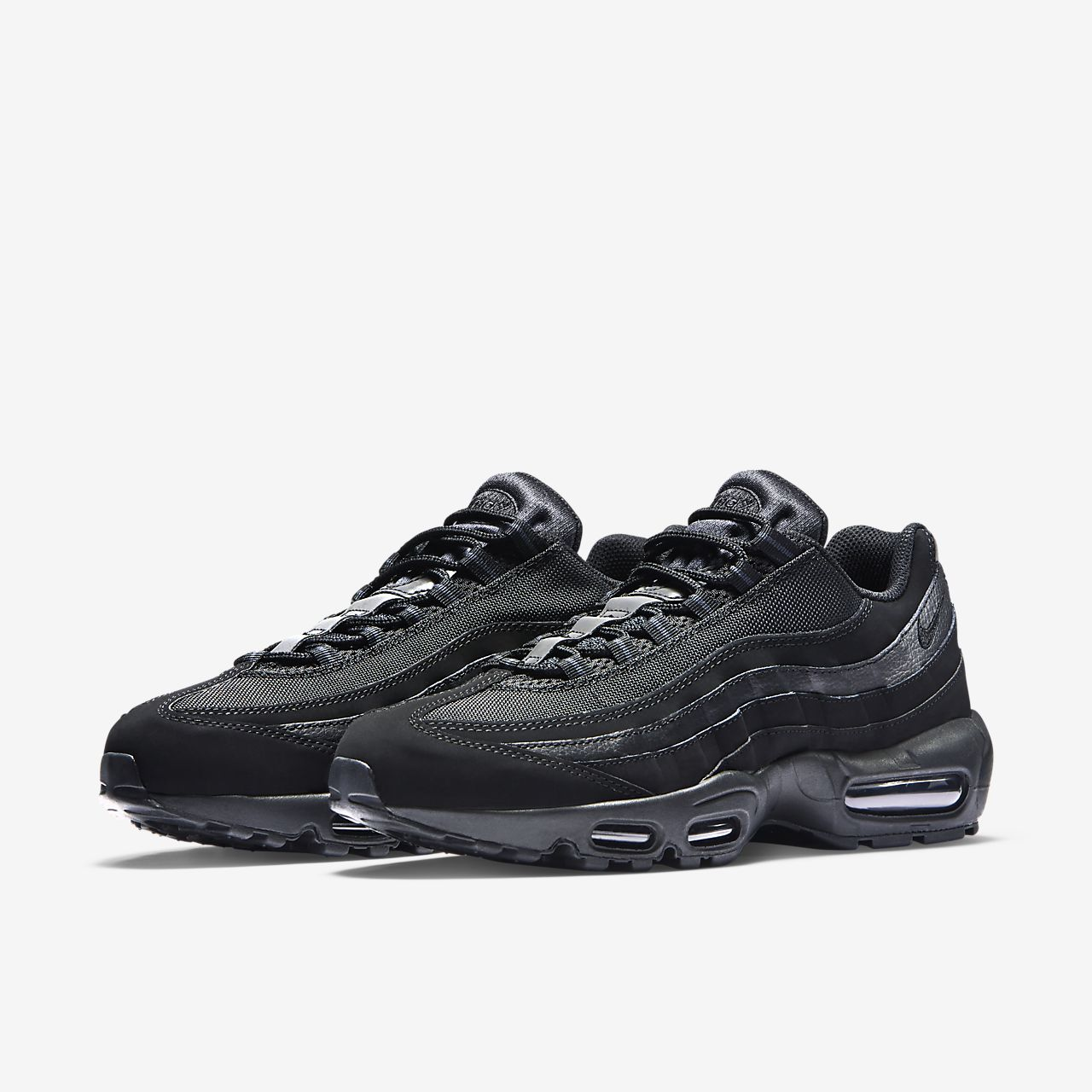 Nike Air Max 95 609048 092 Mens Trainers Black | eBay