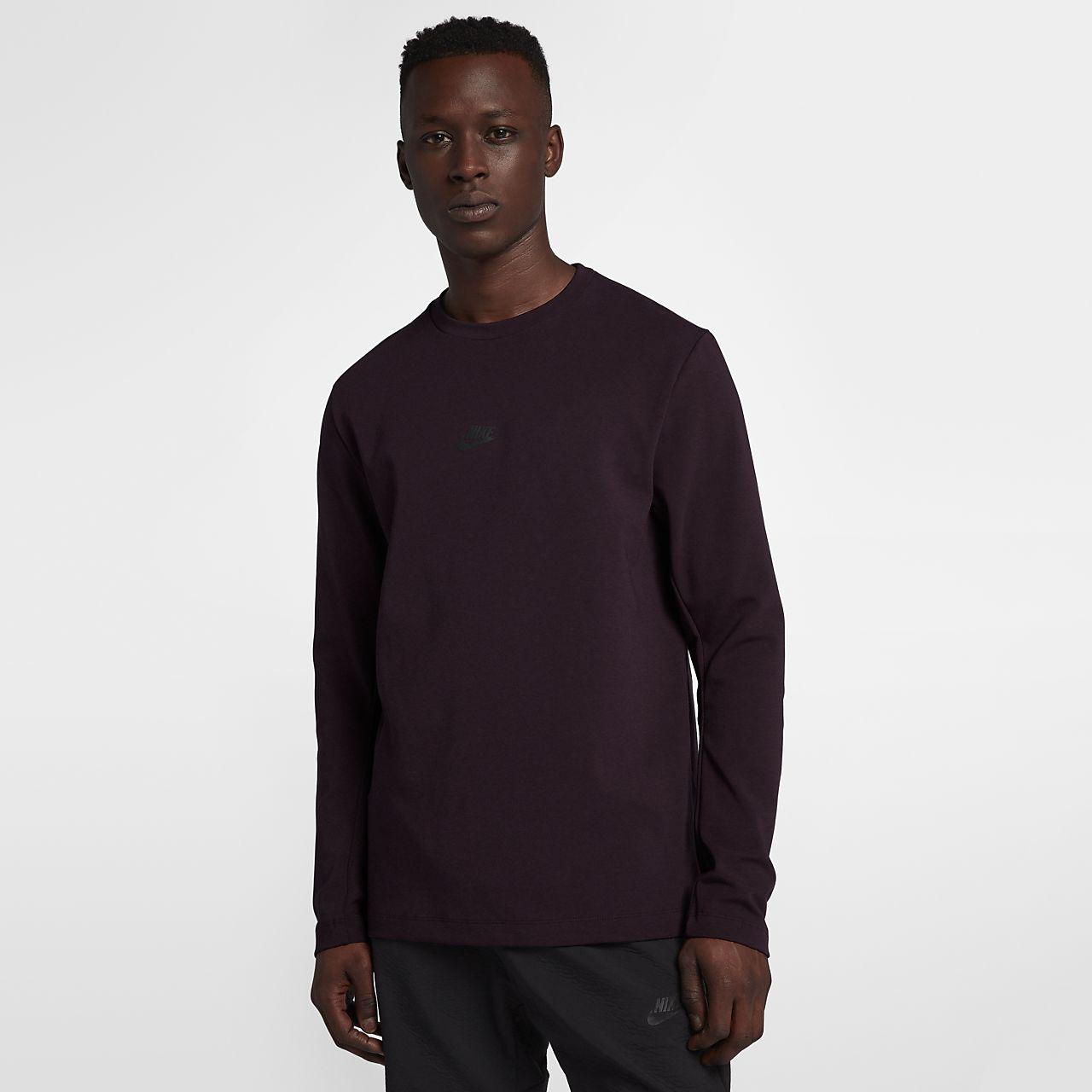 Långärmad tröja med rundad hals Nike Sportswear Tech Pack för män