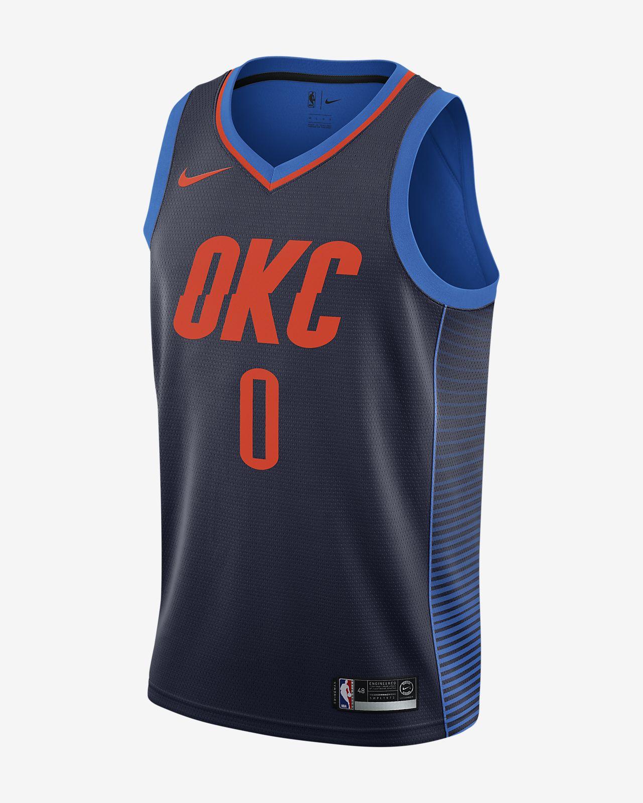 俄克拉荷马城雷霆队 (Russell Westbrook) Statement Edition Swingman Nike NBA Connected Jersey 男子球衣
